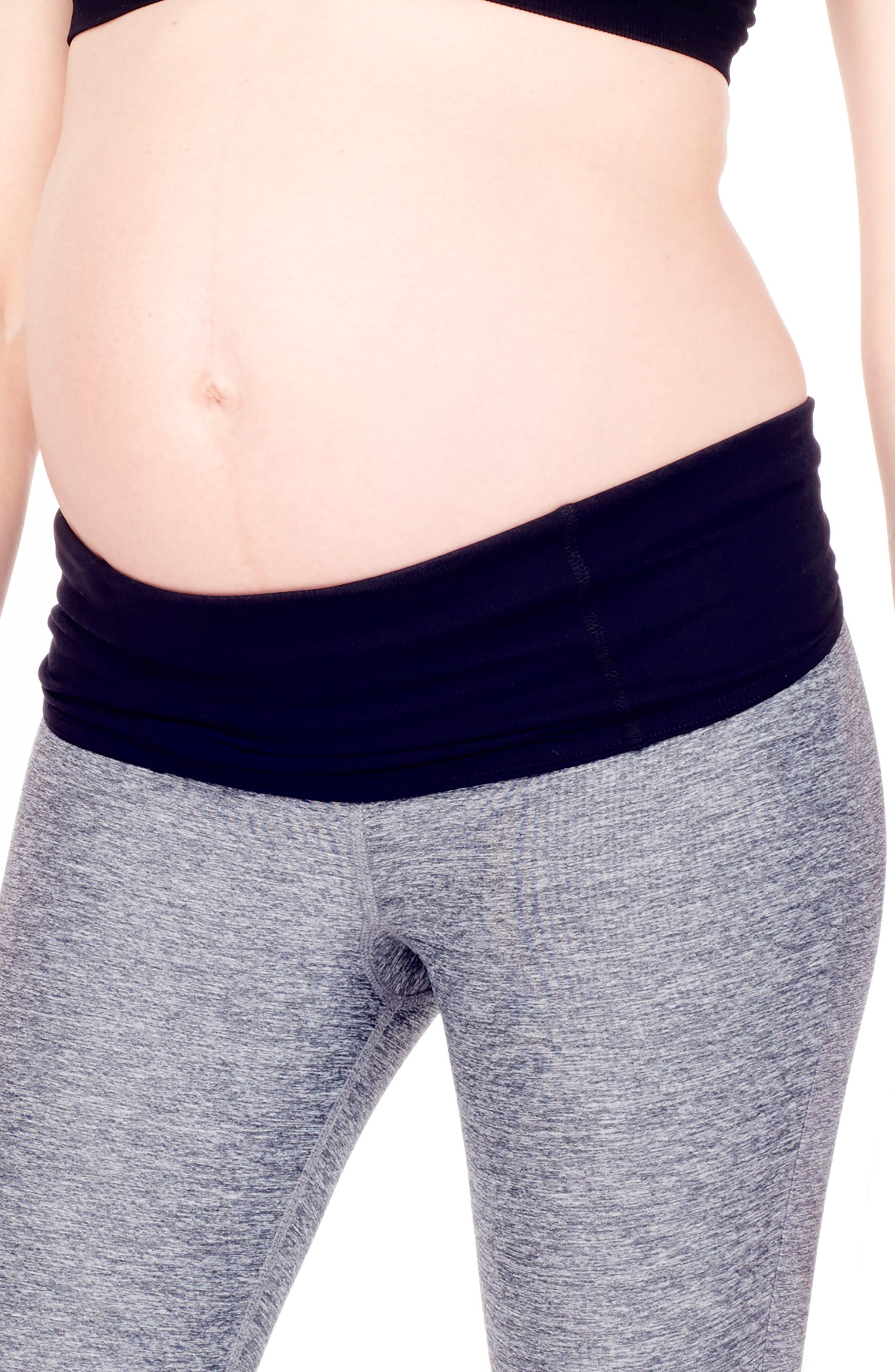 'Active' Maternity Leggings with Crossover Panel,                             Alternate thumbnail 12, color,