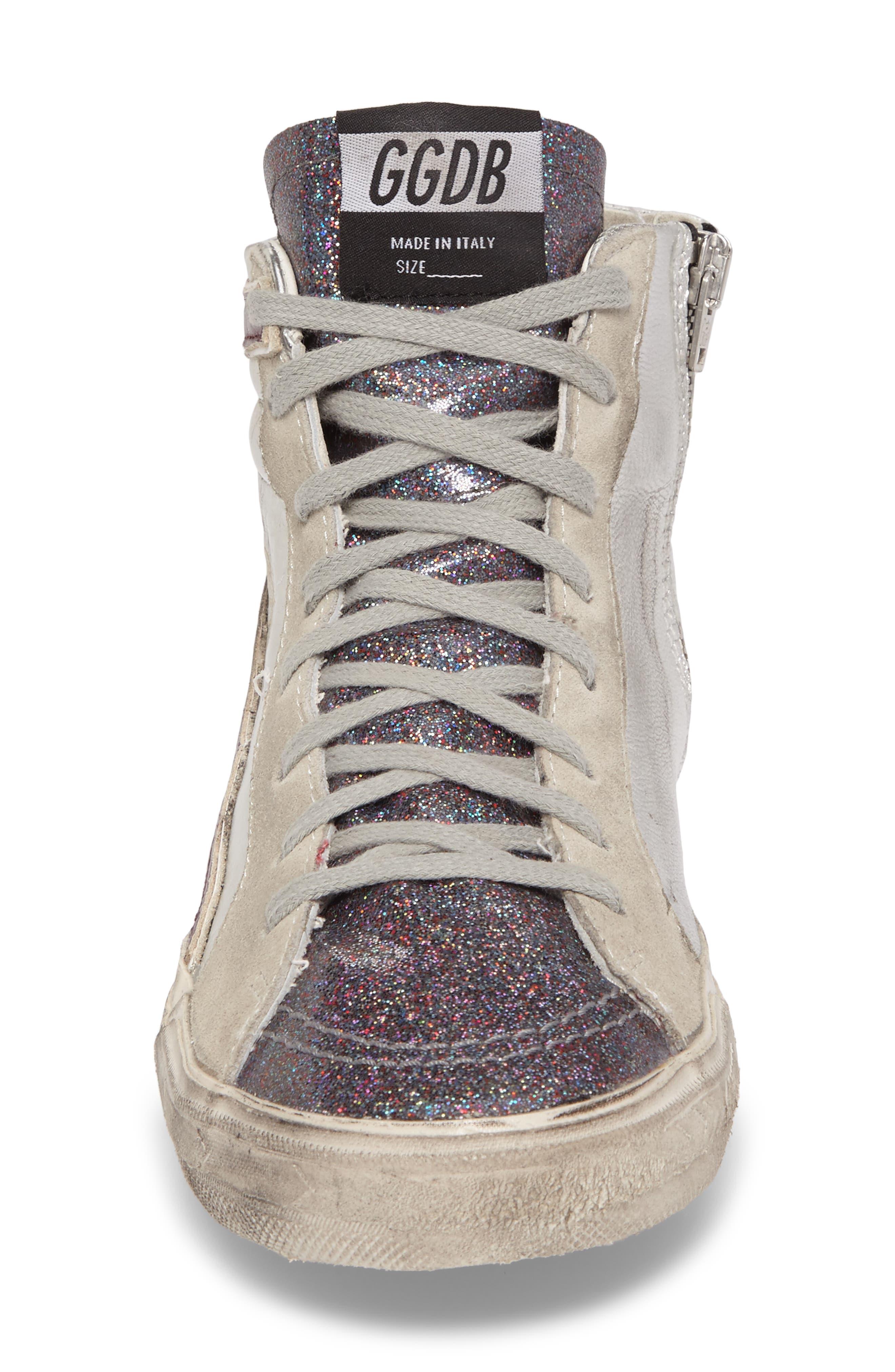Slide High Top Sneaker,                             Alternate thumbnail 4, color,                             040