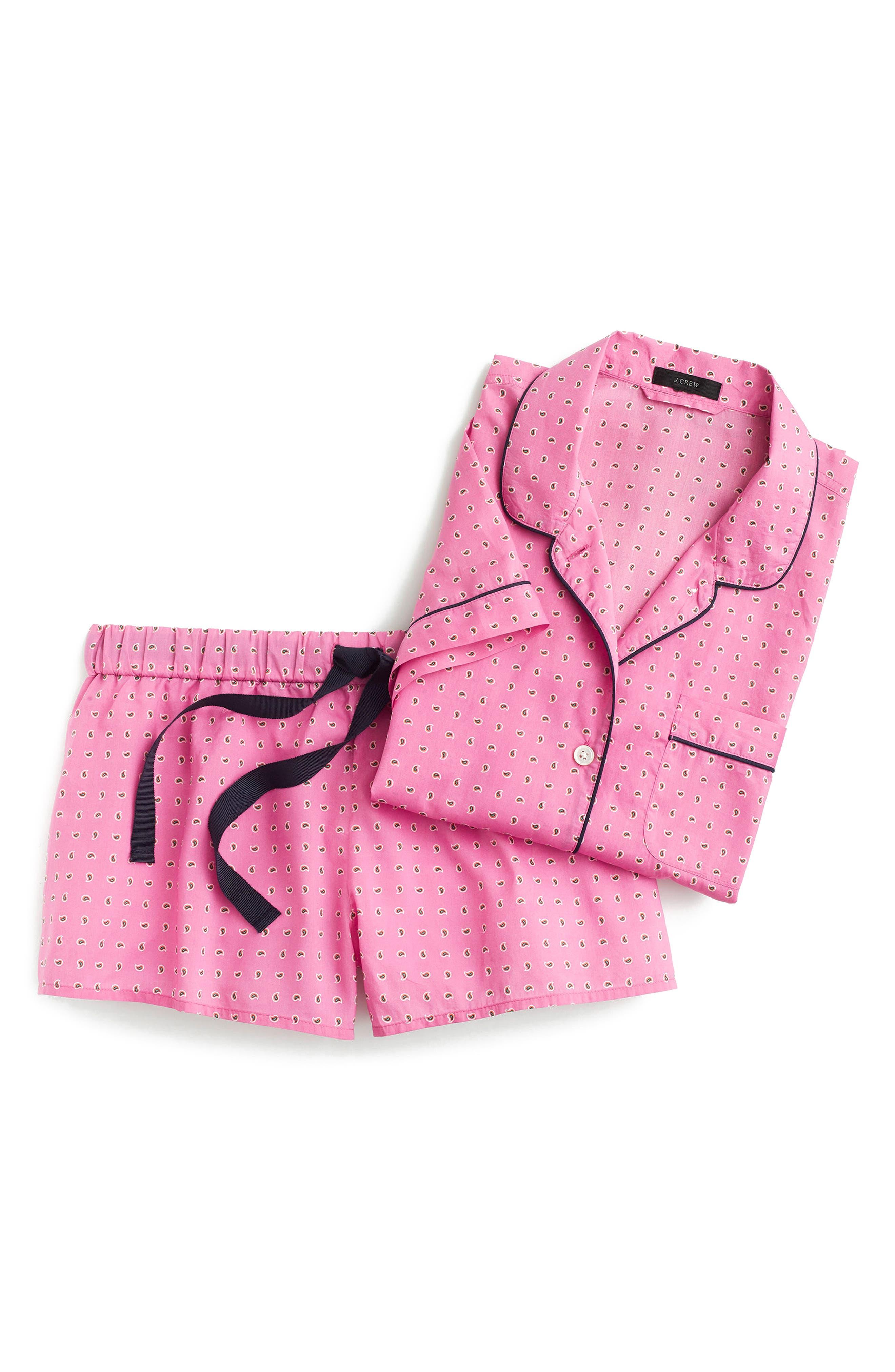 Short Cotton Pajamas,                             Alternate thumbnail 3, color,                             650