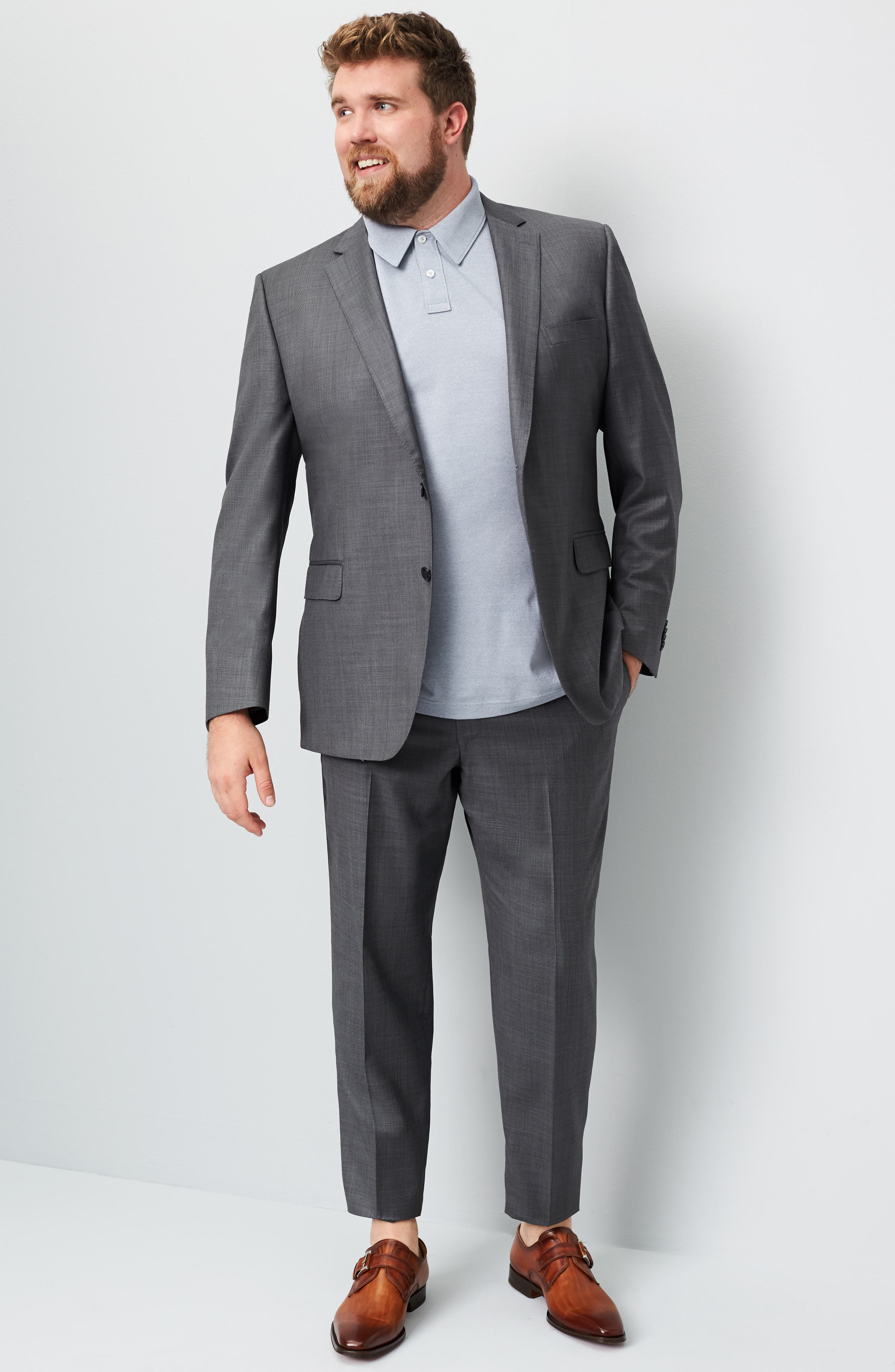 Classic Fit Solid Wool Suit,                             Alternate thumbnail 10, color,                             CHARCOAL