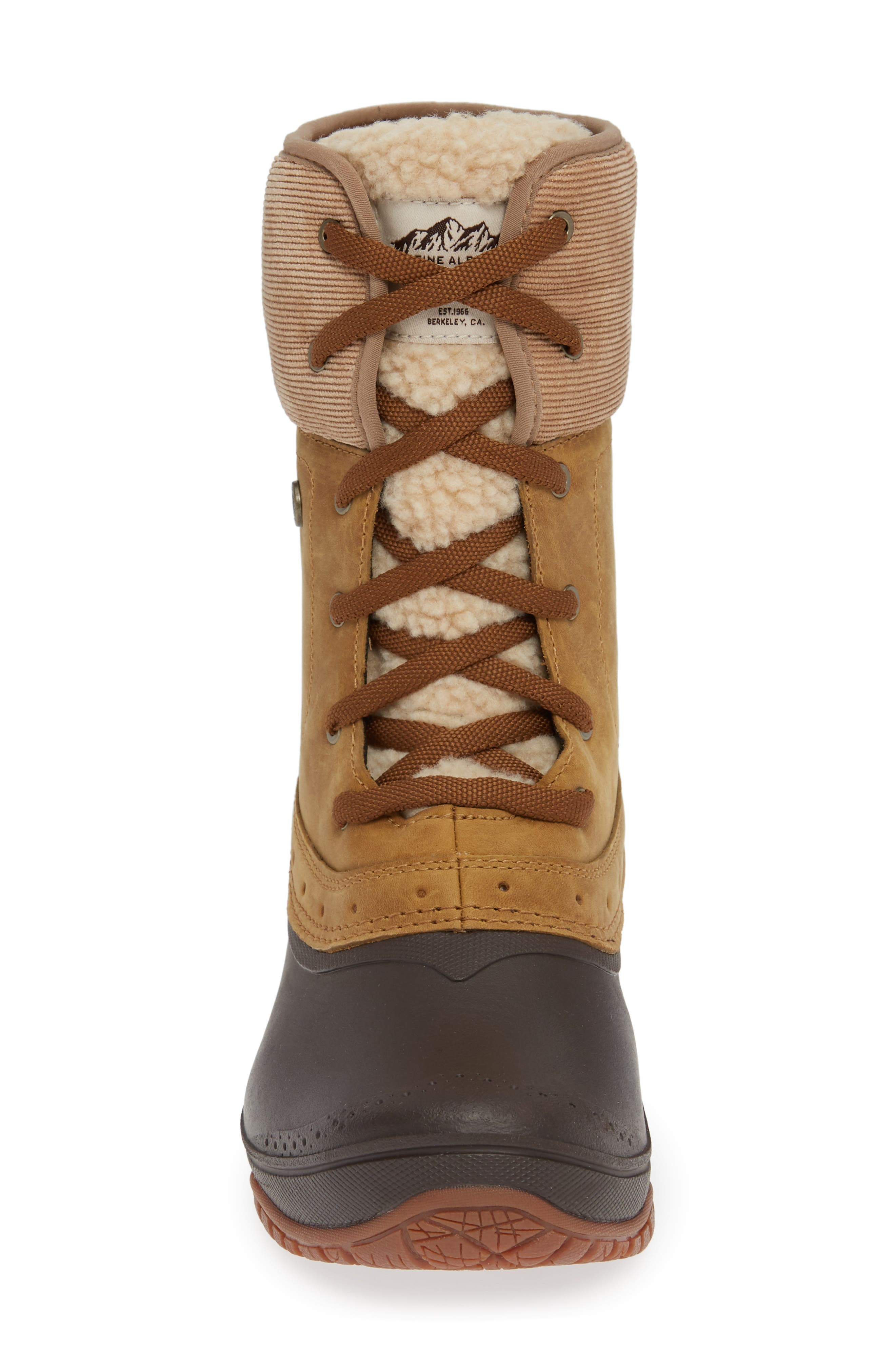 Shellista Roll Cuff Waterproof Insulated Winter Boot,                             Alternate thumbnail 4, color,                             GOLDEN BROWN/ COFFEE BROWN