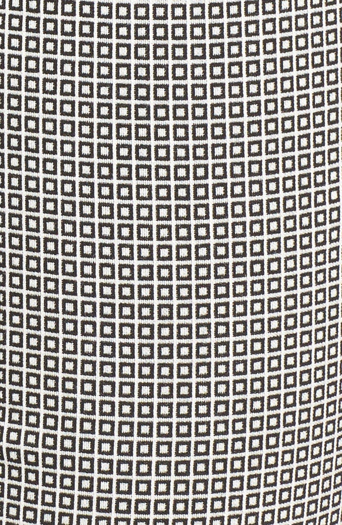 Pixelated Slim Ponte Pants,                             Alternate thumbnail 6, color,                             090