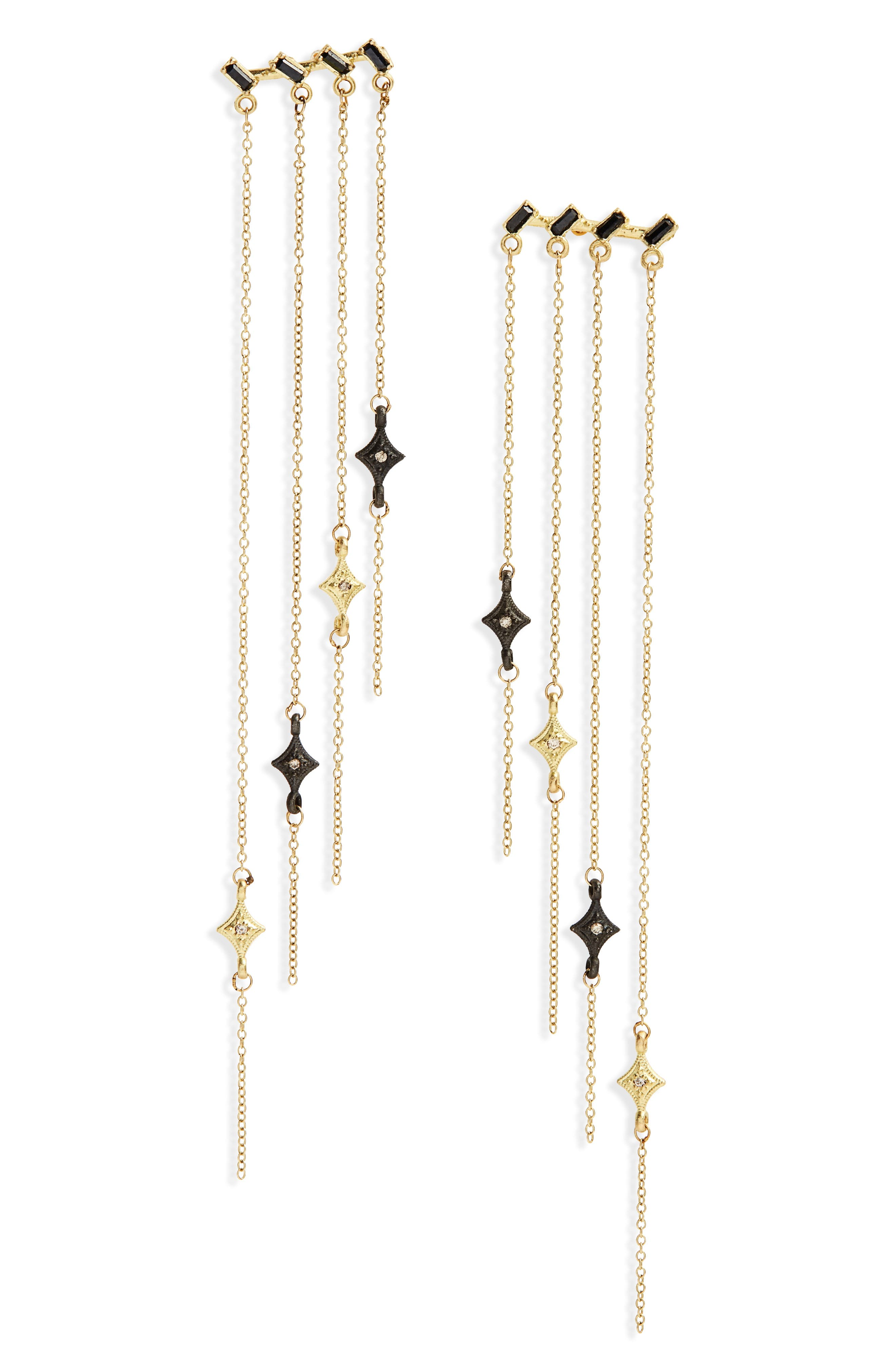Old World Sapphire & Diamond Chandelier Earrings,                         Main,                         color, GOLD