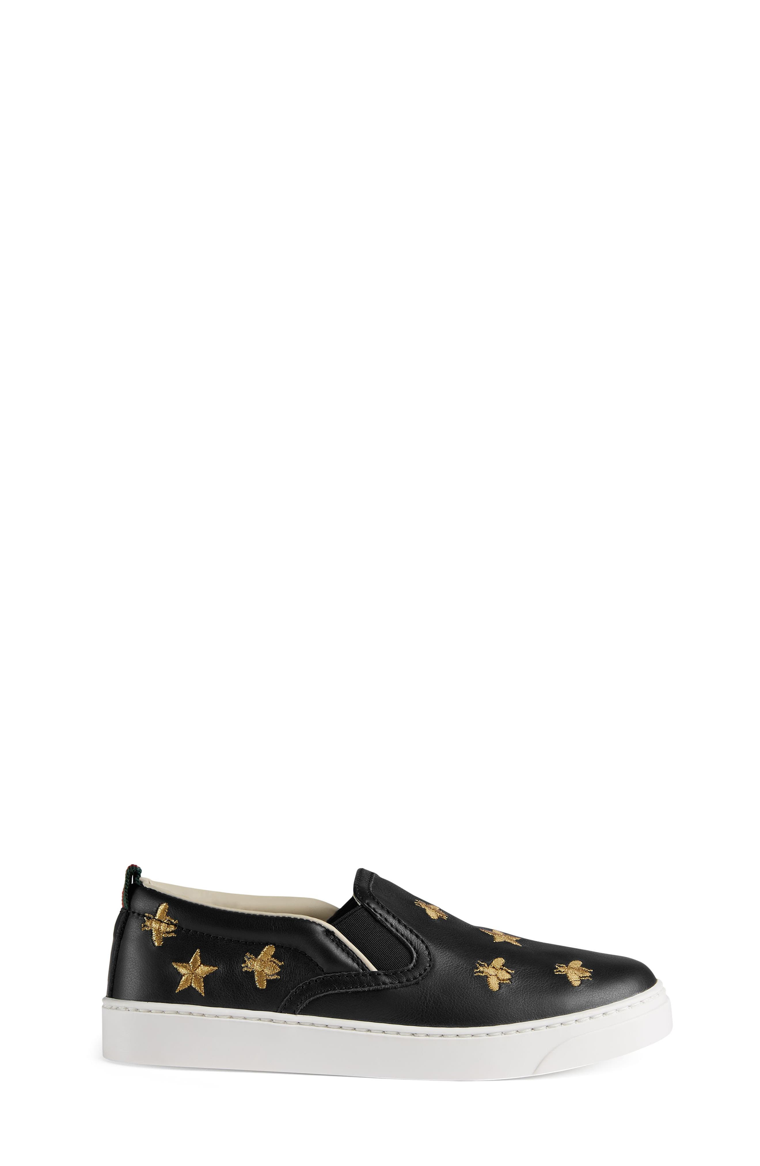 Dublin Bees and Stars Slip-On Sneaker,                             Alternate thumbnail 3, color,                             BLACK/GOLD STARS
