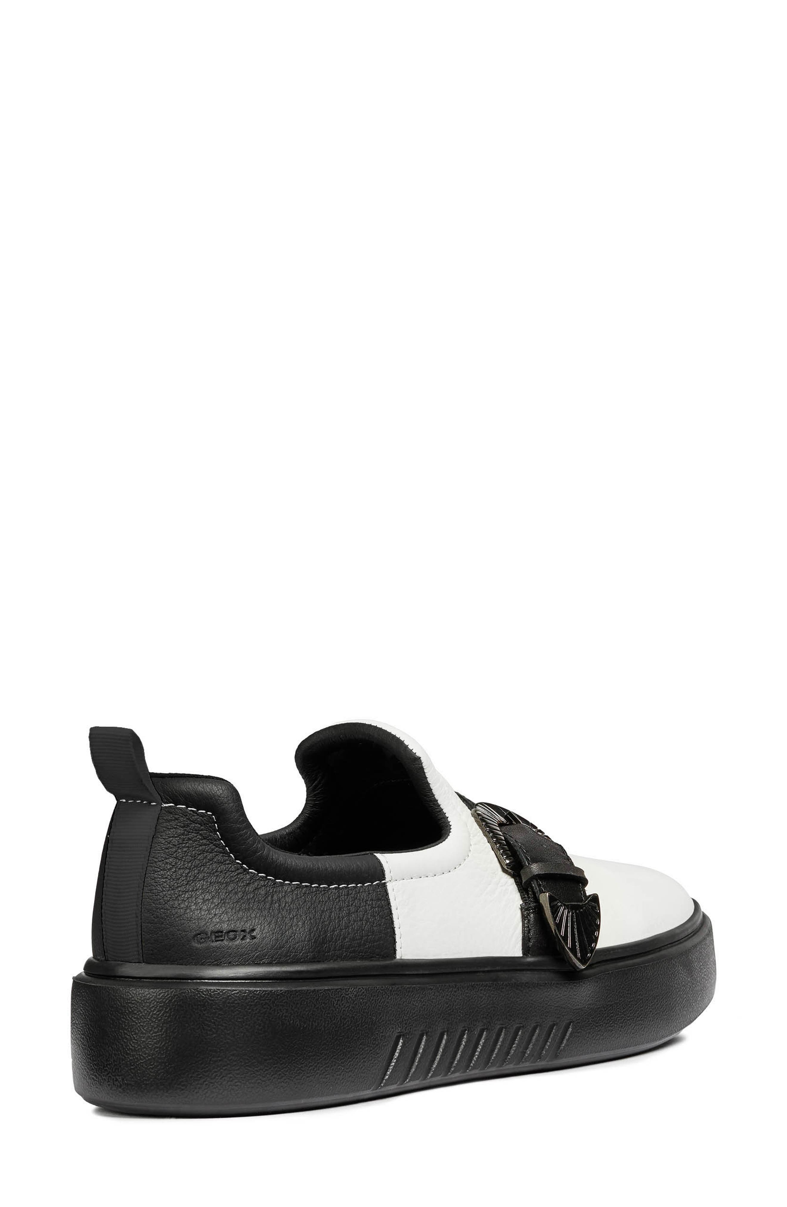 Nhenbus Platform Sneaker,                             Alternate thumbnail 2, color,                             WHITE/ BLACK LEATHER