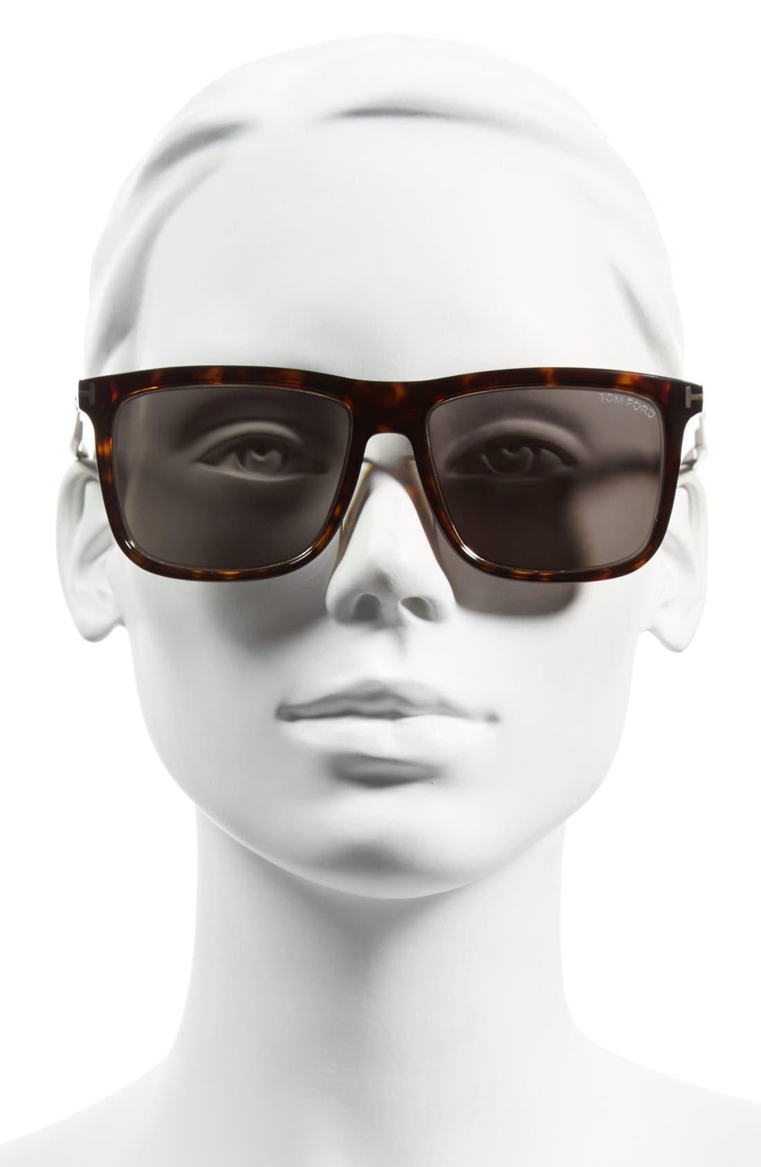 'Karlie' 57mm Retro Sunglasses,                             Alternate thumbnail 5, color,