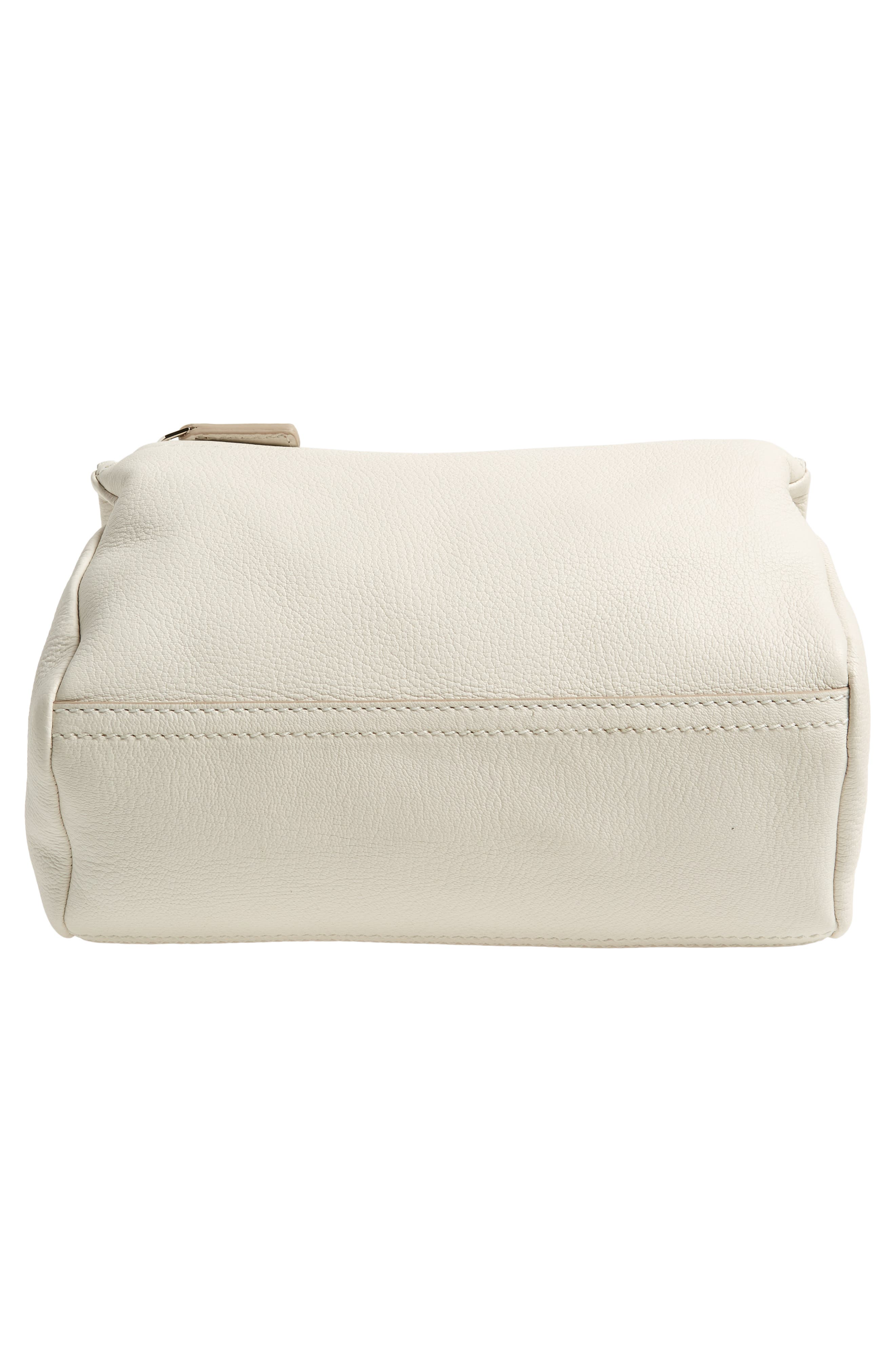 'Mini Pandora' Sugar Leather Shoulder Bag,                             Alternate thumbnail 6, color,                             WHITE