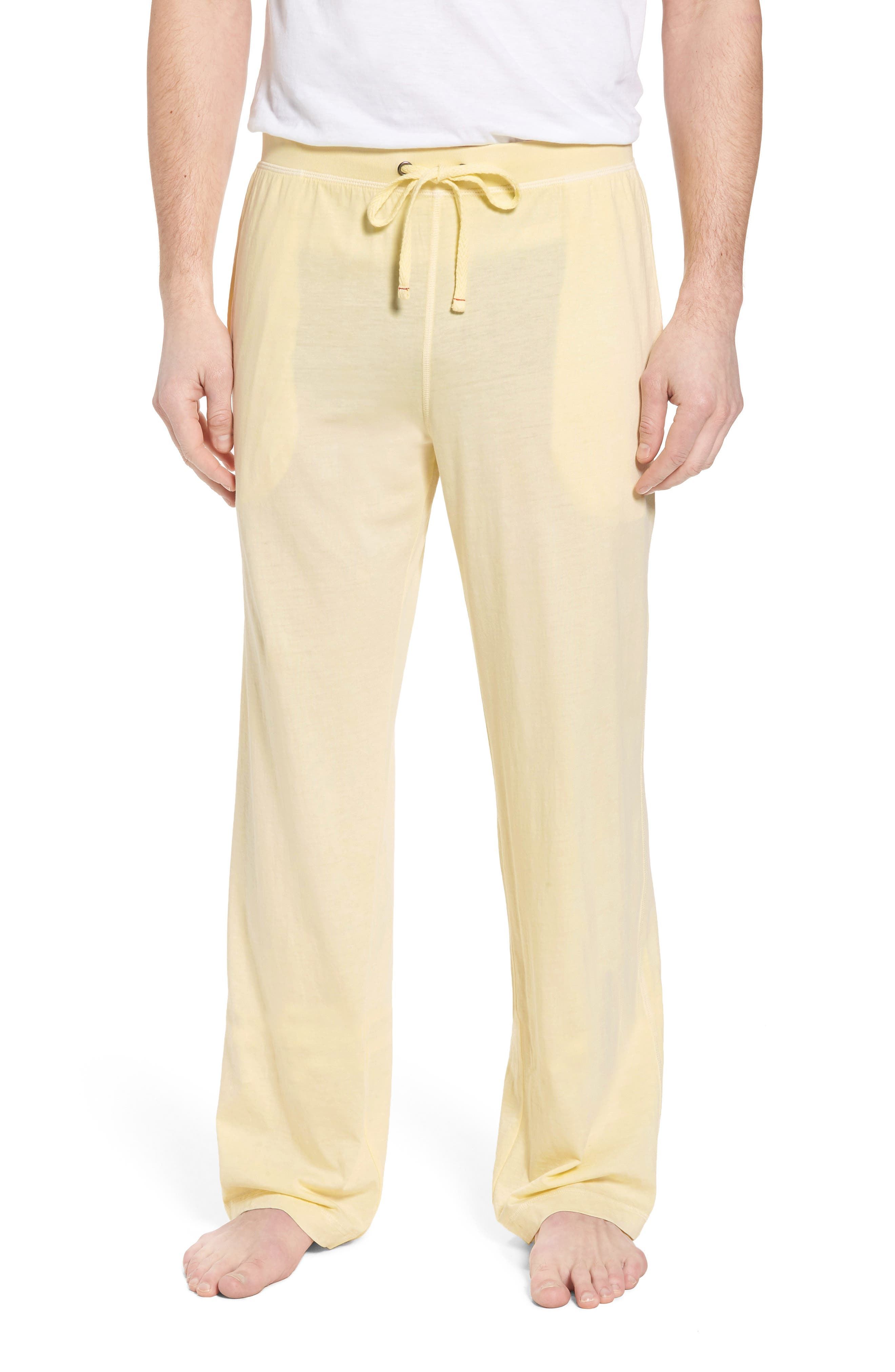 Peruvian Pima Cotton Lounge Pants,                         Main,                         color, YELLOW