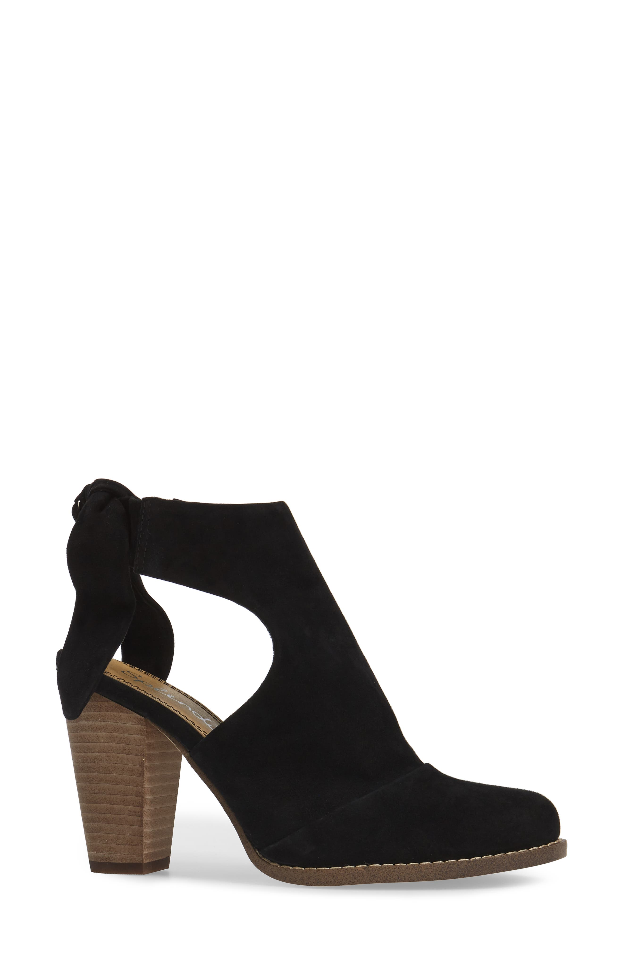Danae Stacked Heel Bootie,                             Alternate thumbnail 3, color,                             013