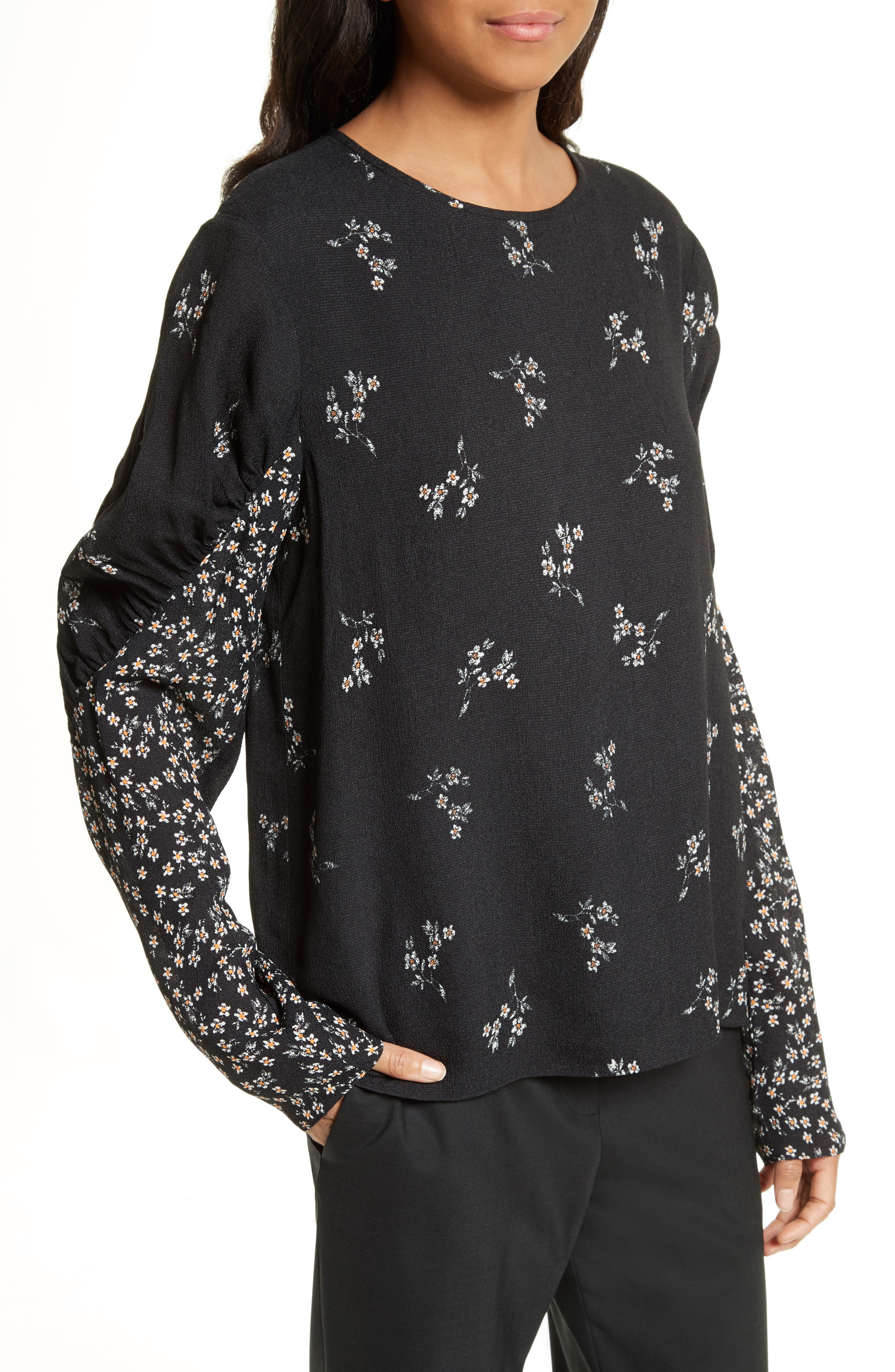 Florence Lili Floral Top,                             Alternate thumbnail 4, color,                             006