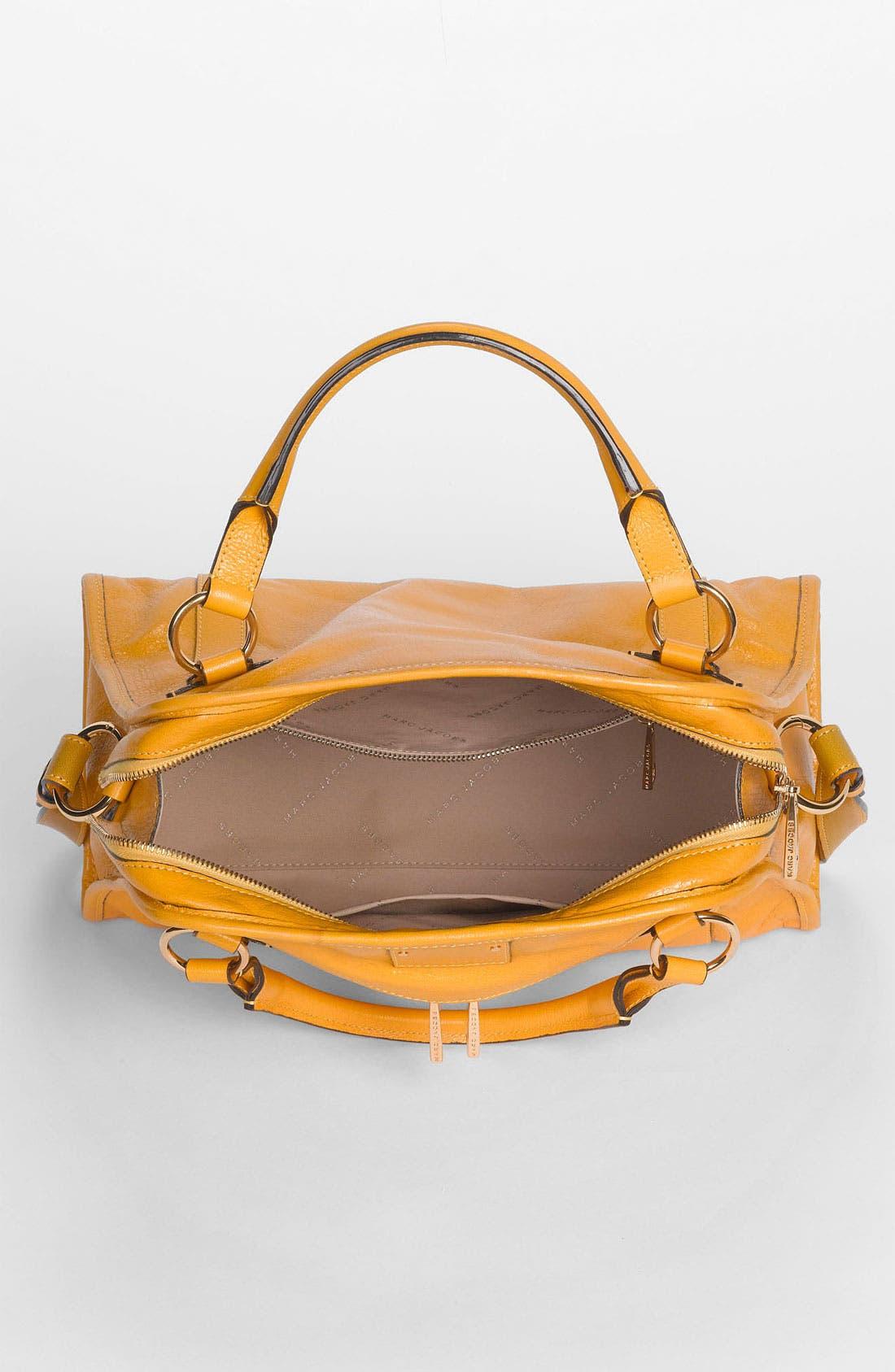'Classic Wellington' Leather Satchel,                             Alternate thumbnail 32, color,