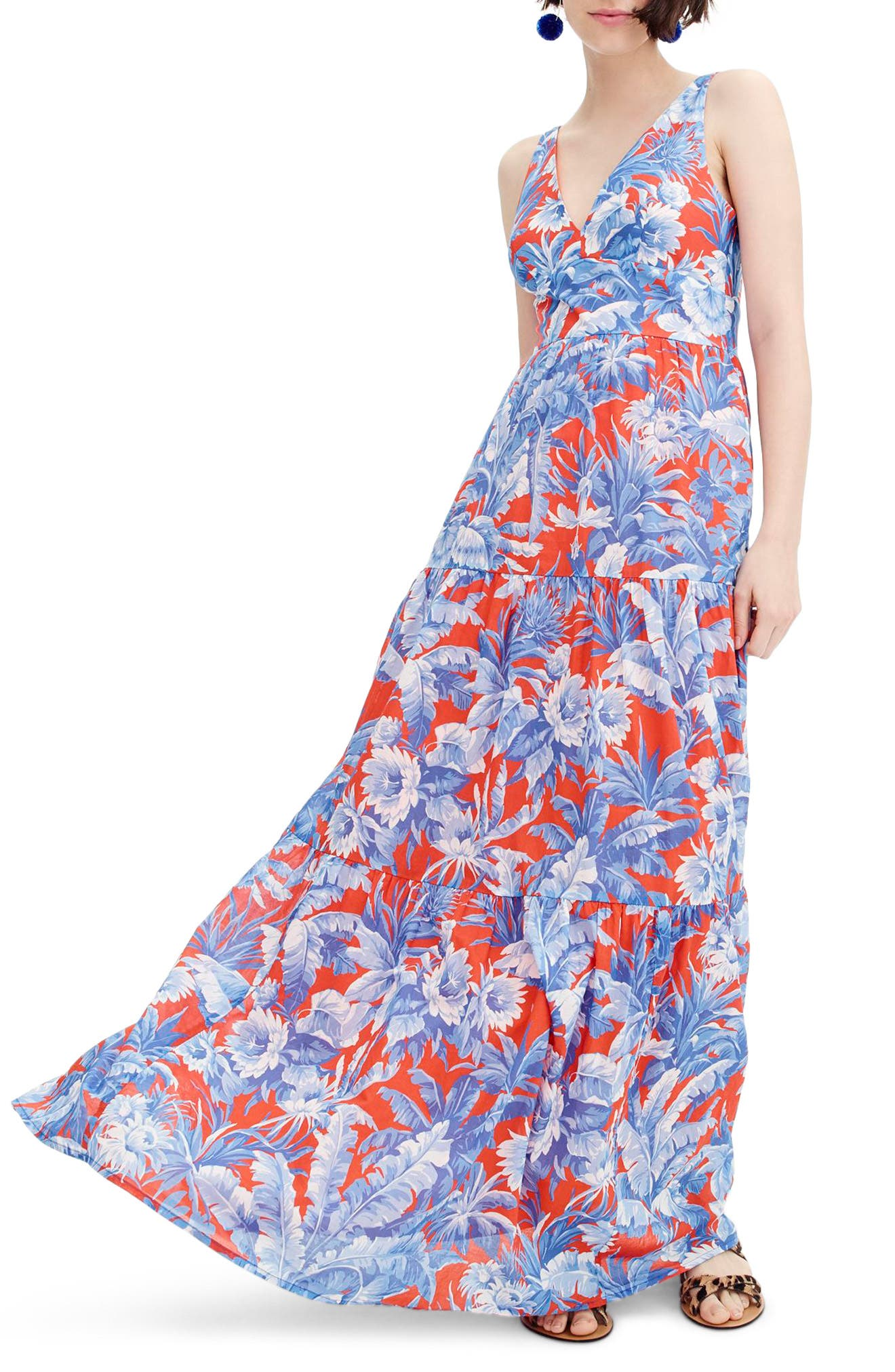 Ratti V-Neck Maxi Dress,                         Main,                         color, 400