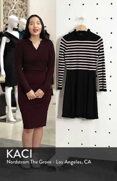 Mock Neck Stripe Sweater Dress, sales video thumbnail