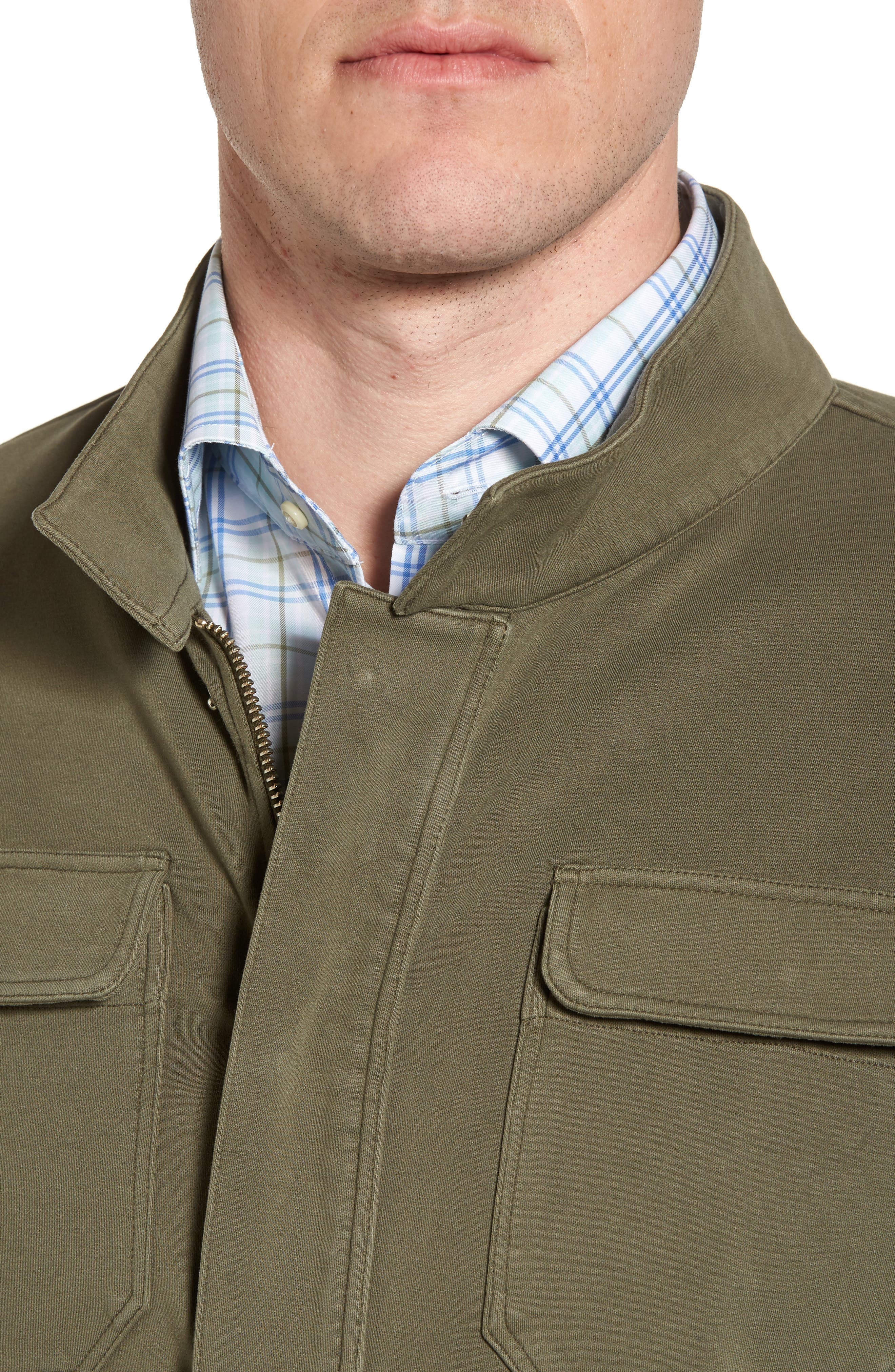 Regular Fit Safari Jersey Jacket,                             Alternate thumbnail 4, color,