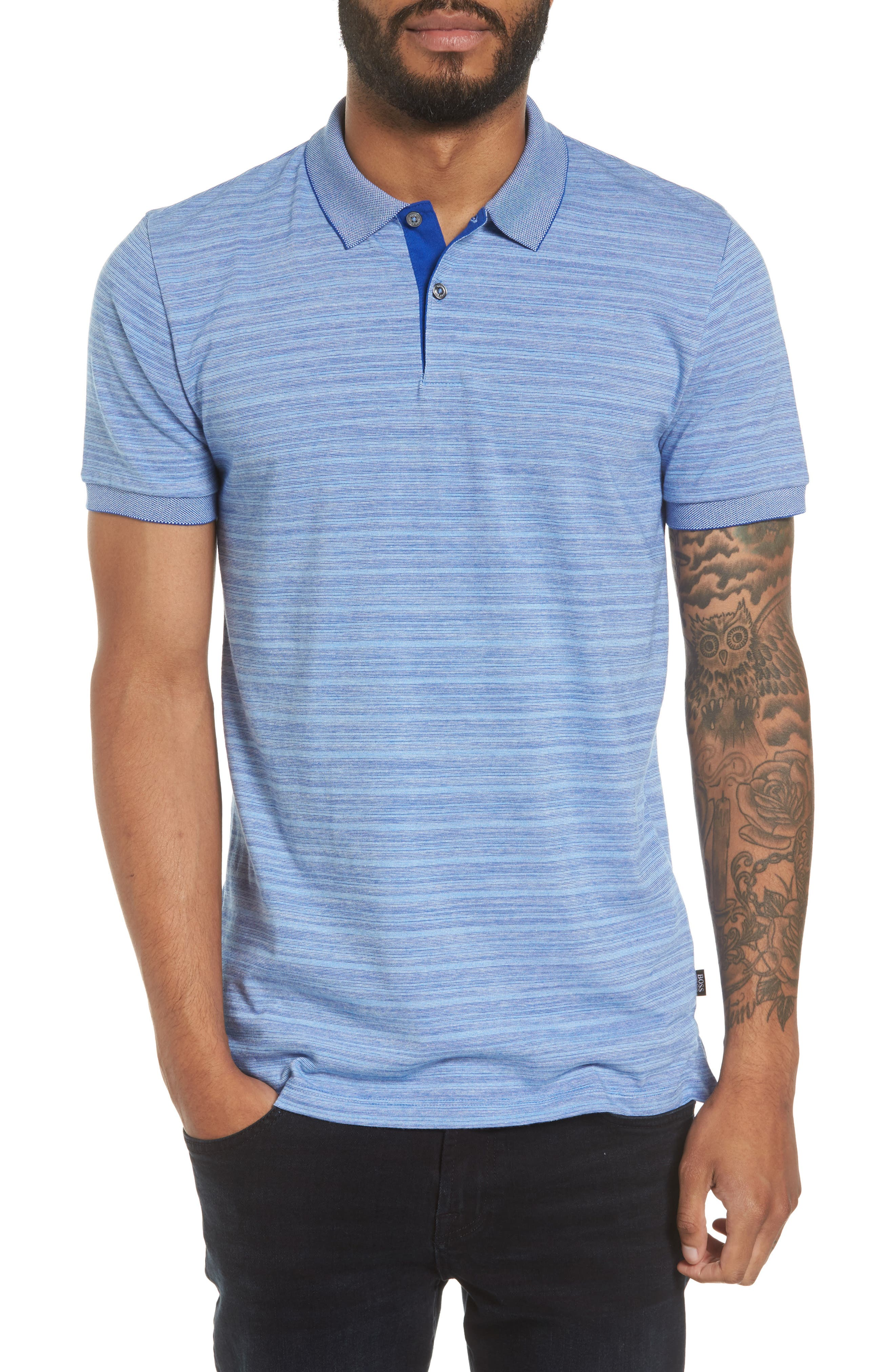 Phillipson Flame Slim Fit Polo,                             Main thumbnail 1, color,                             463