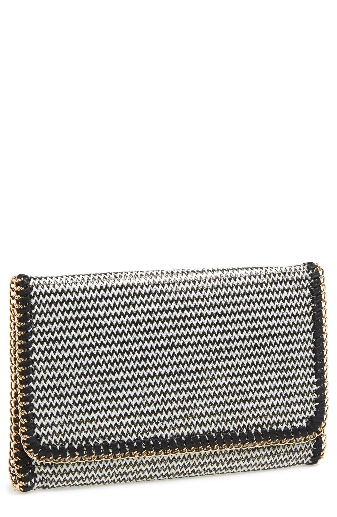 PHASE 3,                             'Zigzag' Chain Clutch,                             Main thumbnail 1, color,                             001