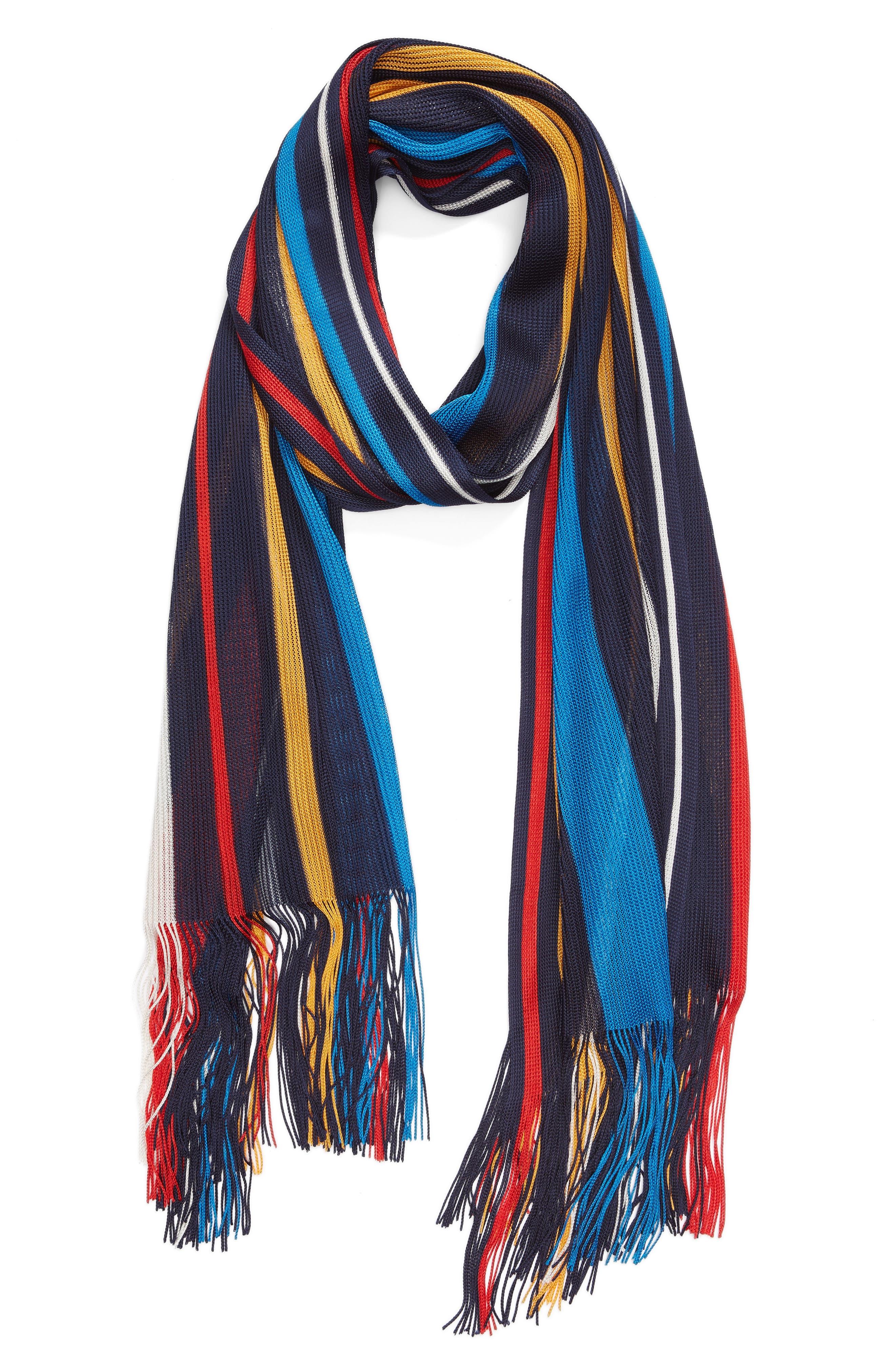 Cabana Stripe Silk Scarf,                             Alternate thumbnail 2, color,                             411
