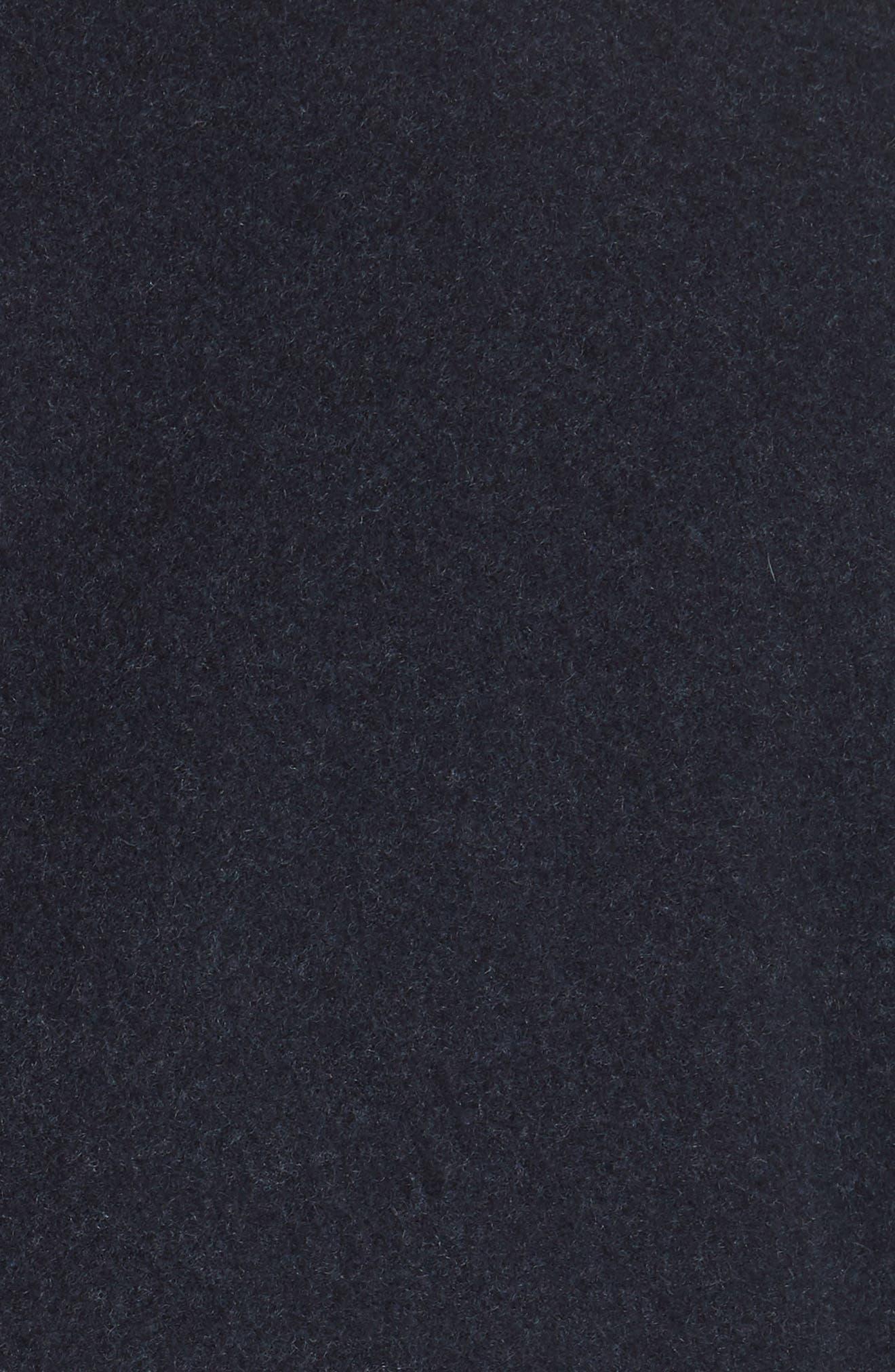 Wool & Cashmere Coat,                             Alternate thumbnail 6, color,                             NAVY