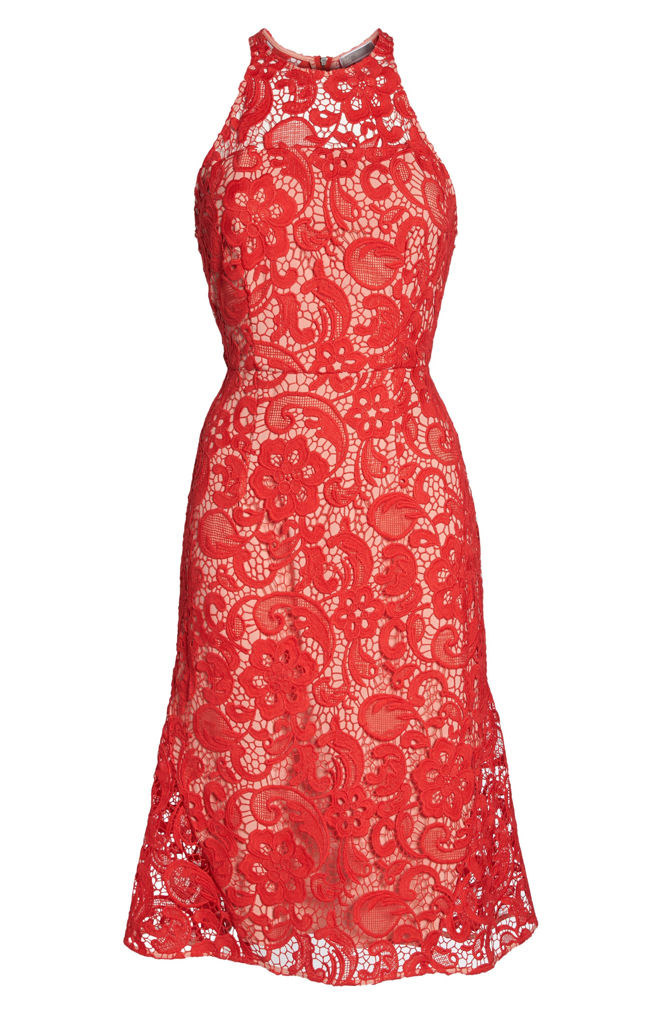 Carnation Lace Dress,                             Alternate thumbnail 6, color,                             600
