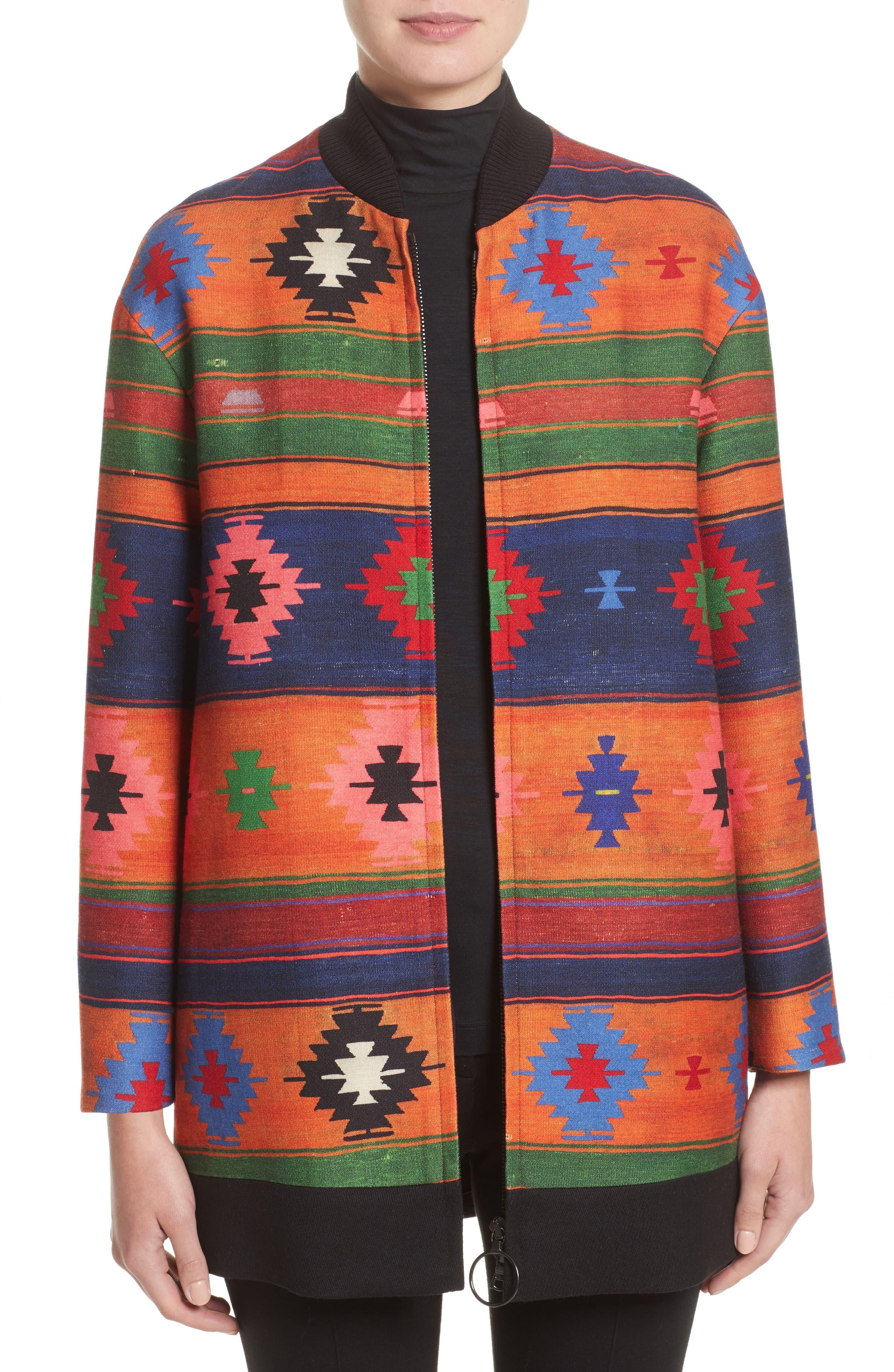 Wool Bomber Jacket,                             Main thumbnail 1, color,                             800