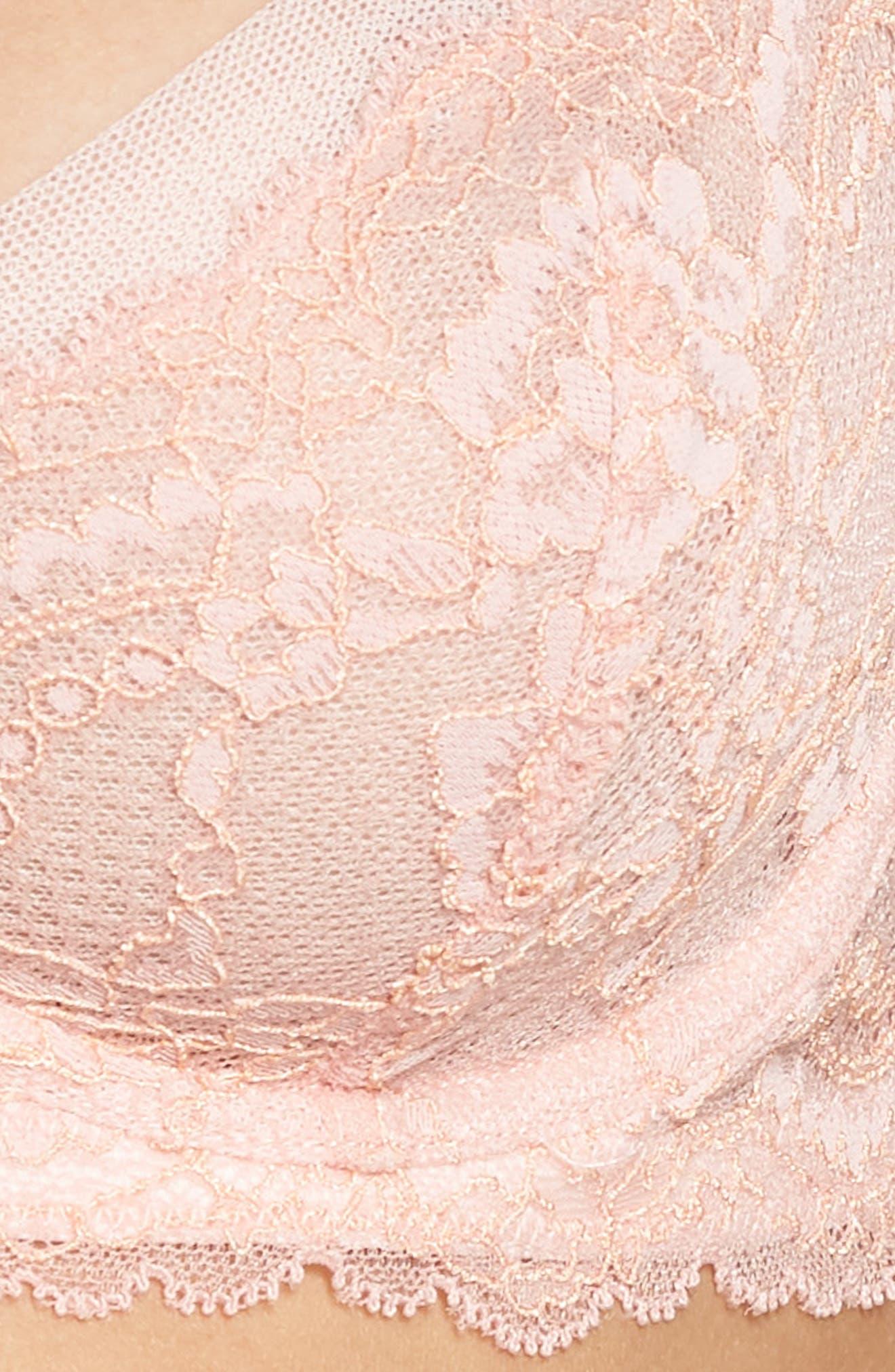 SKARLETT BLUE,                             'Minx' Unlined Lace Demi Underwire Bra,                             Alternate thumbnail 6, color,                             ROSE/ BELLINI