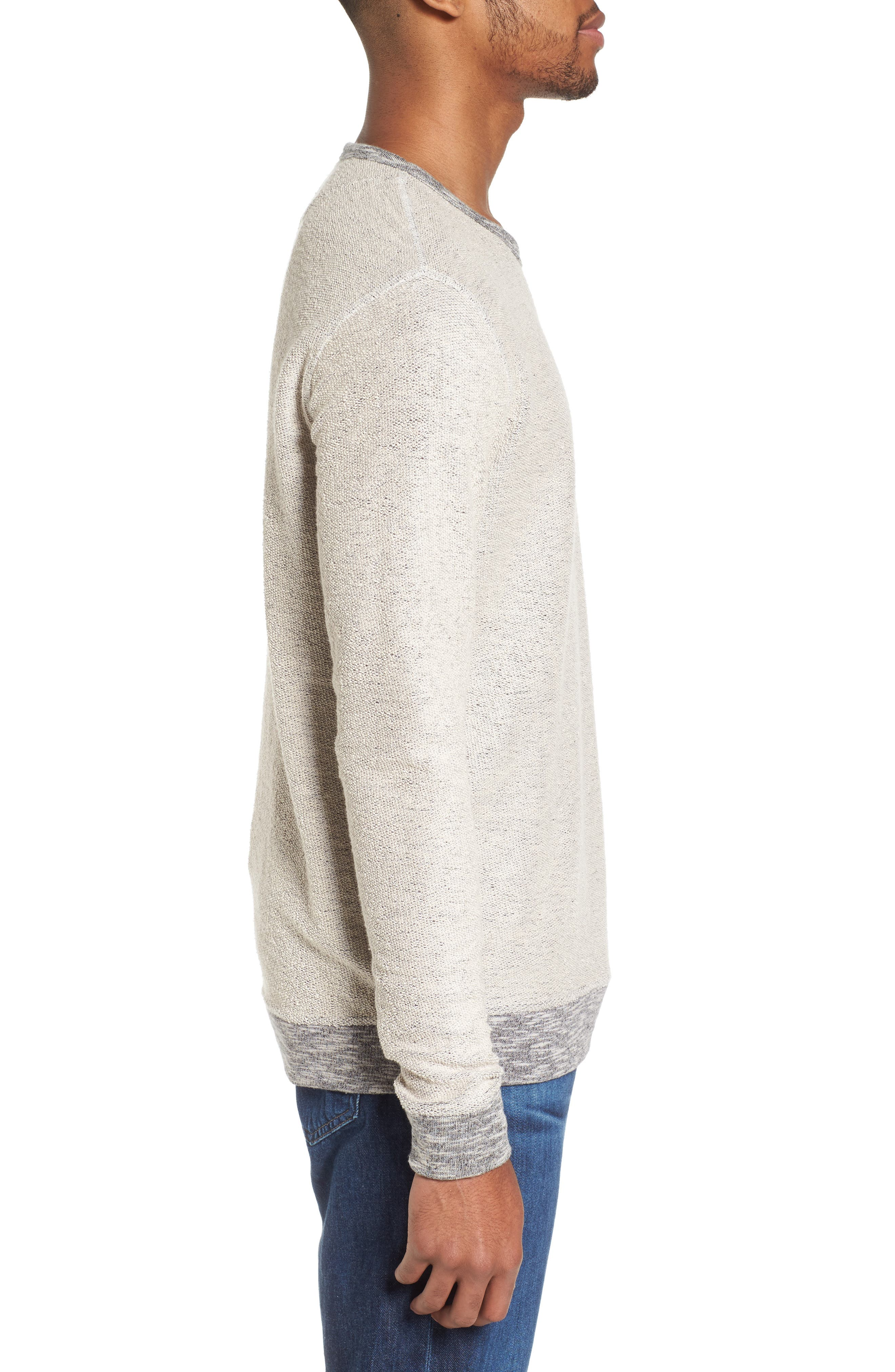 Reverse French Terry Sweatshirt,                             Alternate thumbnail 3, color,