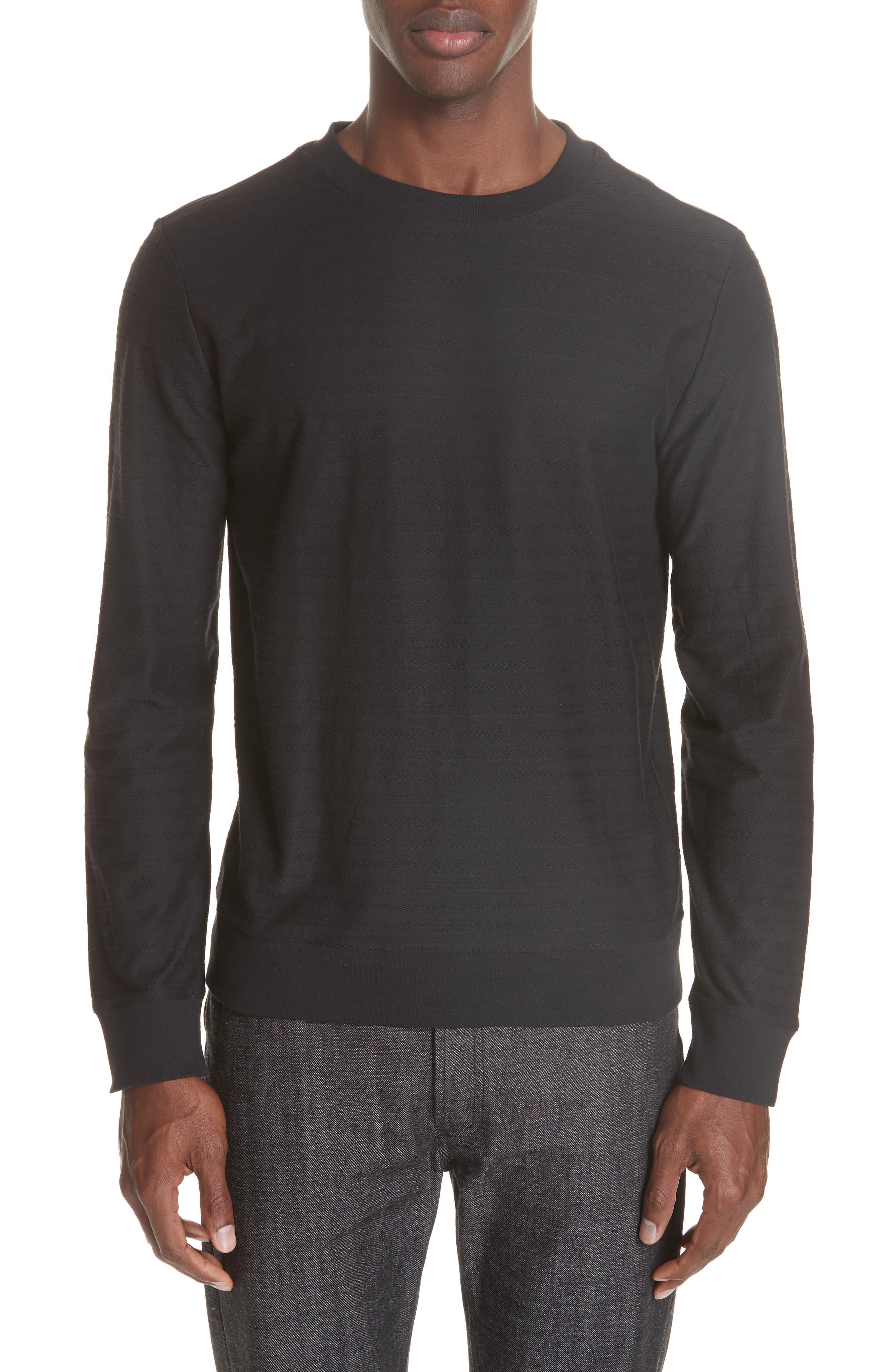 Jacquard Stripe Long Sleeve T-Shirt,                             Main thumbnail 1, color,                             062