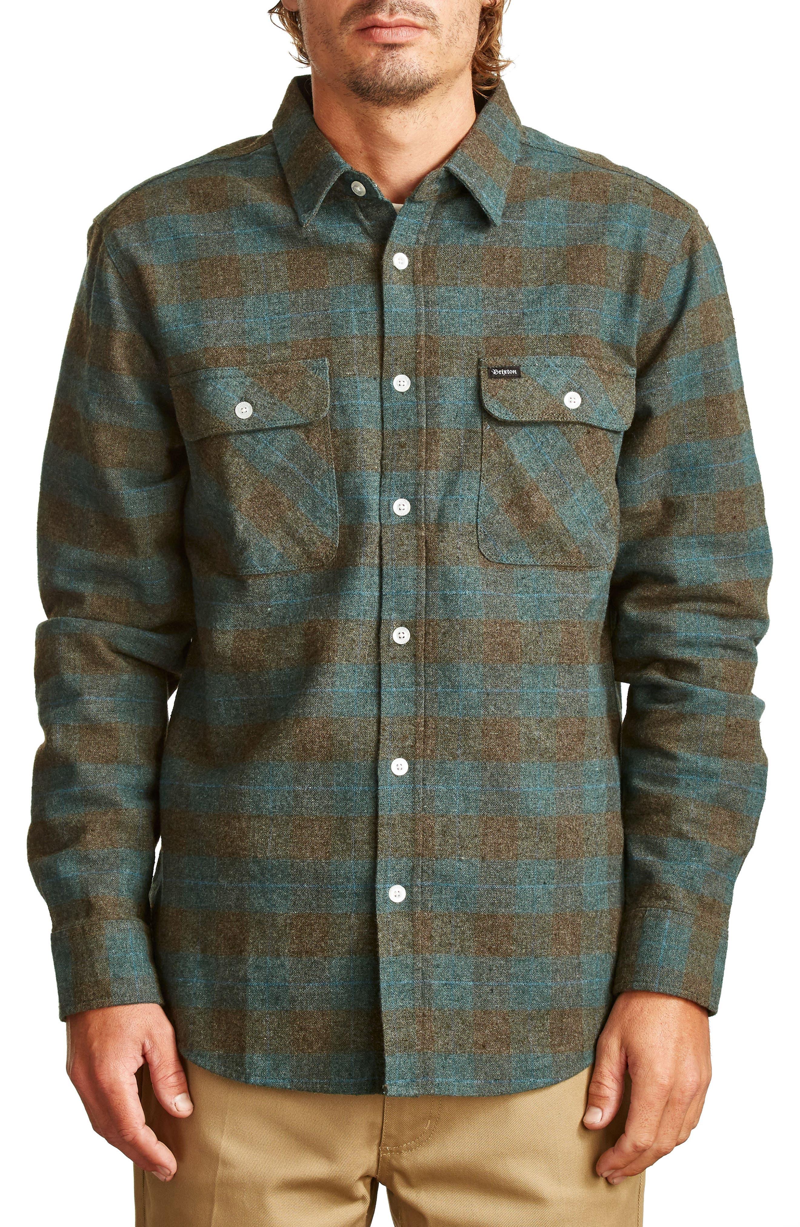 Bowery Flannel Shirt,                             Main thumbnail 8, color,