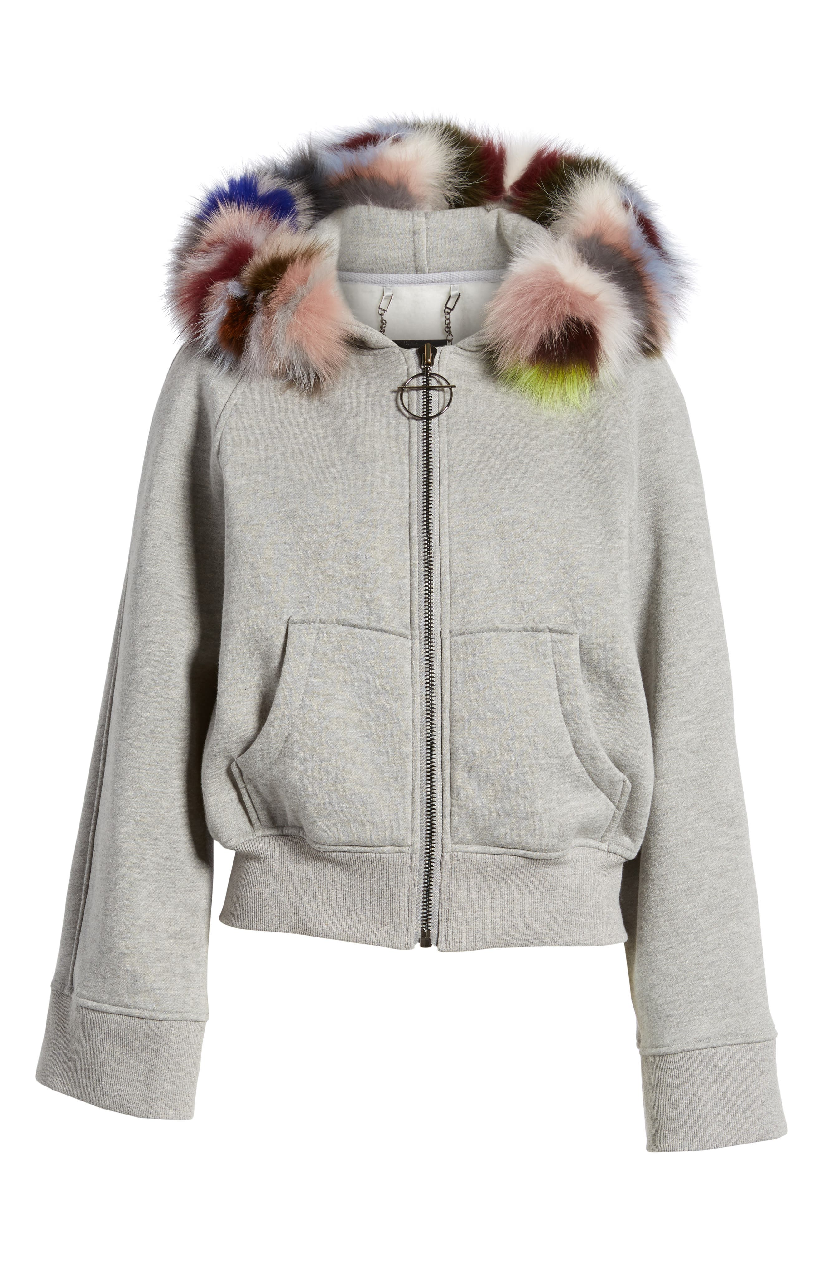 BAGATELLE.CITY The Luxe Hooded Jacket with Genuine Fox Fur Trim,                             Alternate thumbnail 13, color,