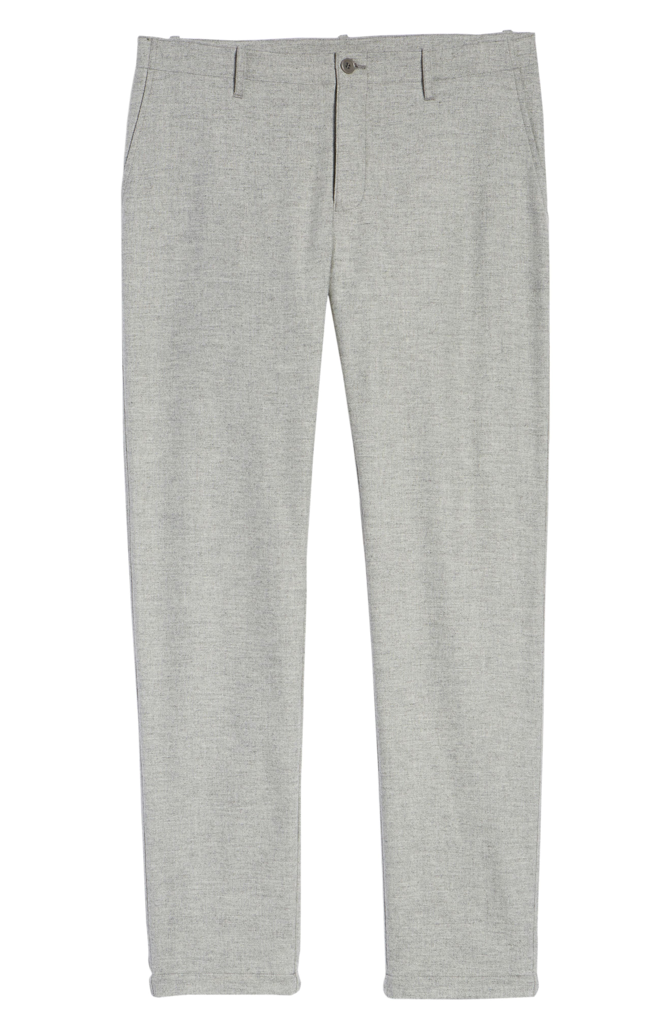 DJVU Slim Fit Trousers,                             Alternate thumbnail 6, color,                             027