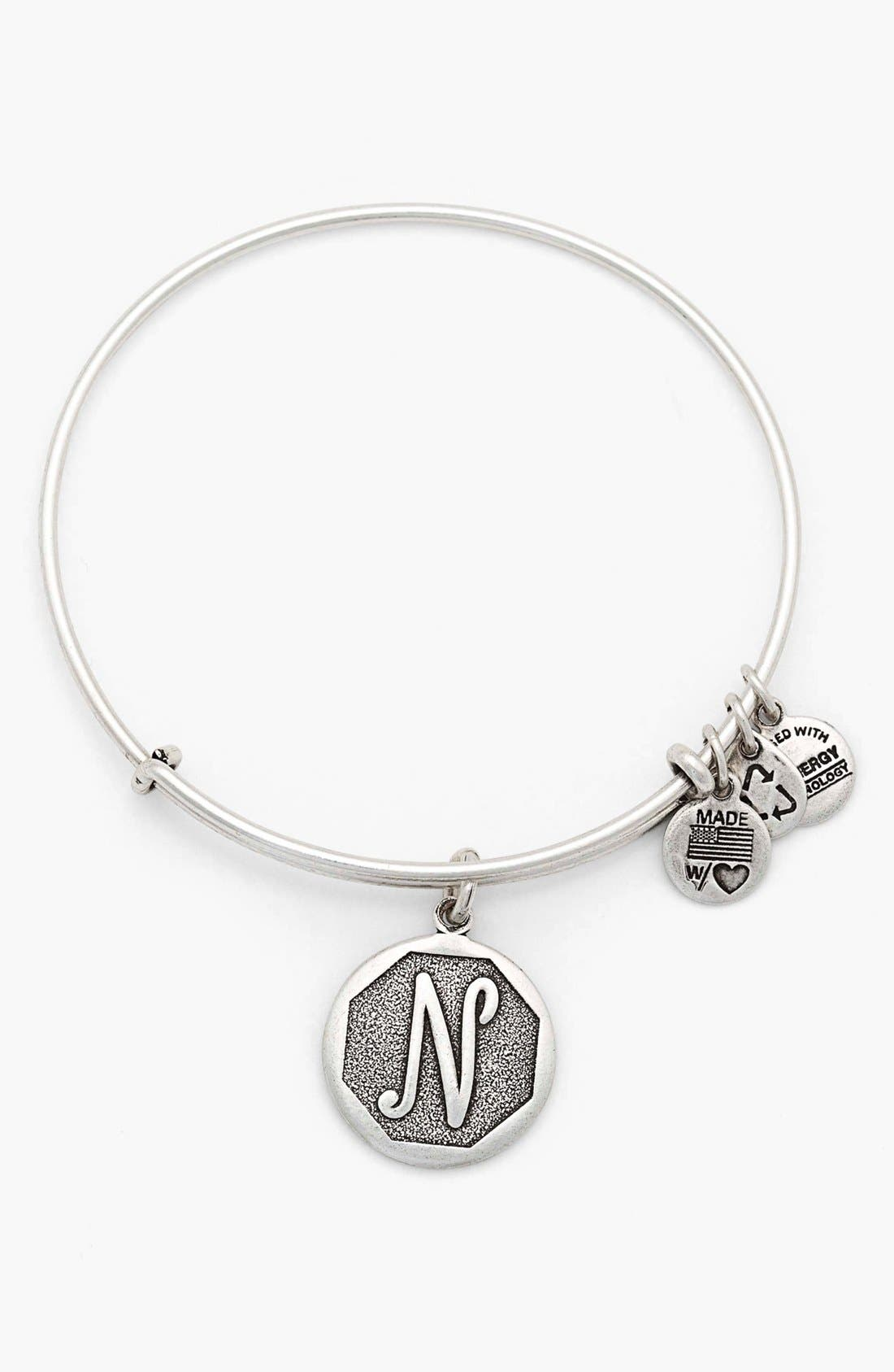 'Initial' Adjustable Wire Bangle,                             Main thumbnail 14, color,