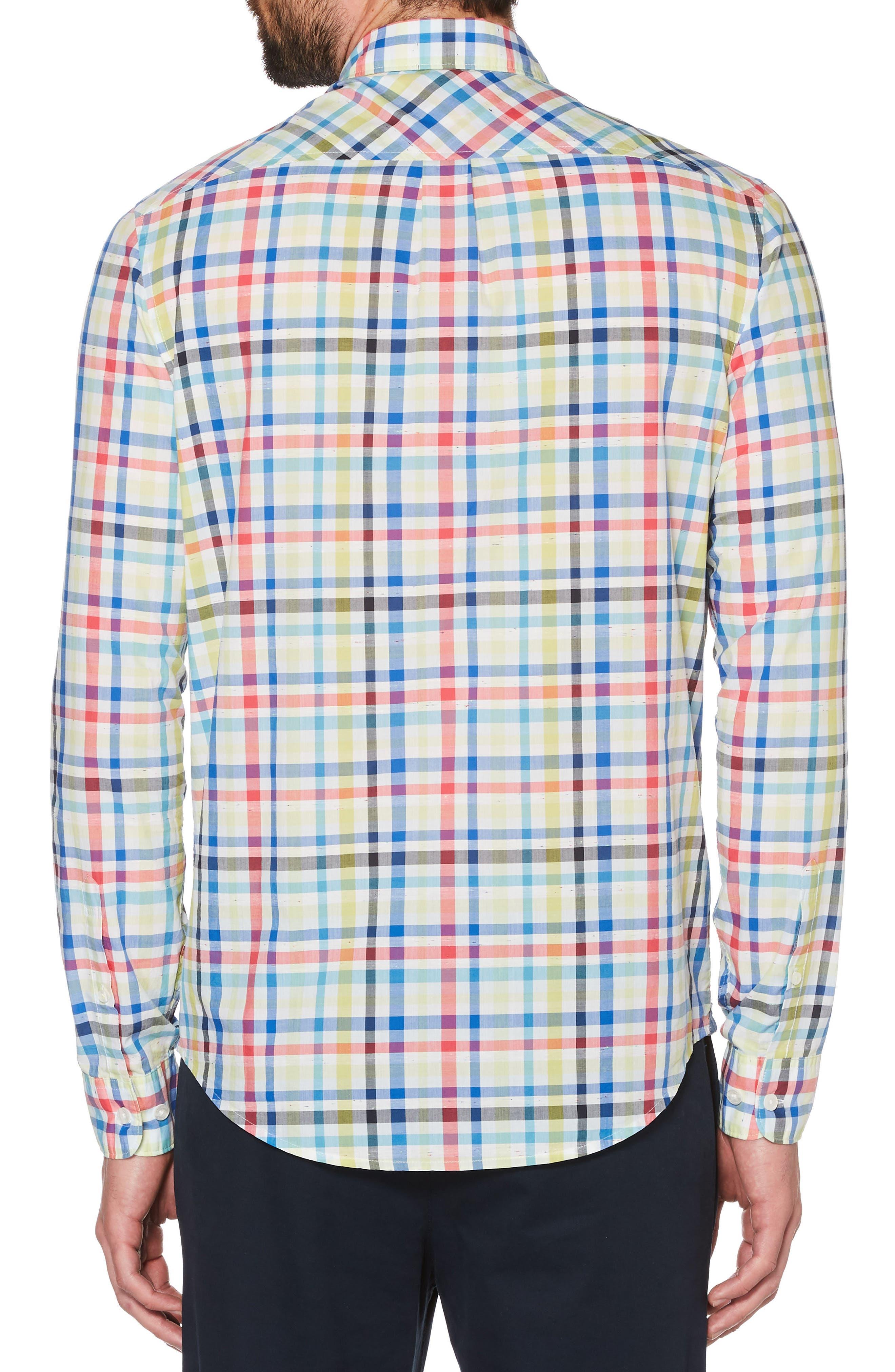 P55 Plaid Woven Shirt,                             Alternate thumbnail 2, color,                             462