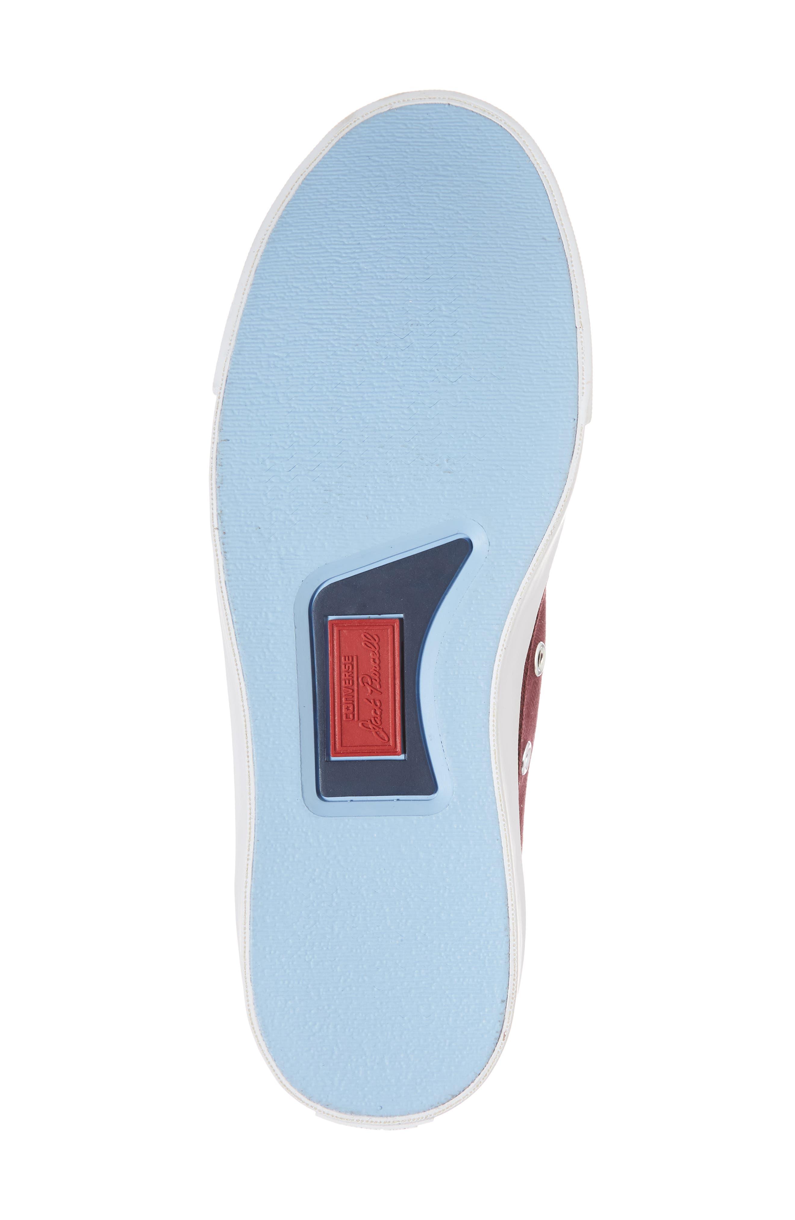 Jack Purcell Low Top Sneaker,                             Alternate thumbnail 6, color,                             DARK BURGUNDY