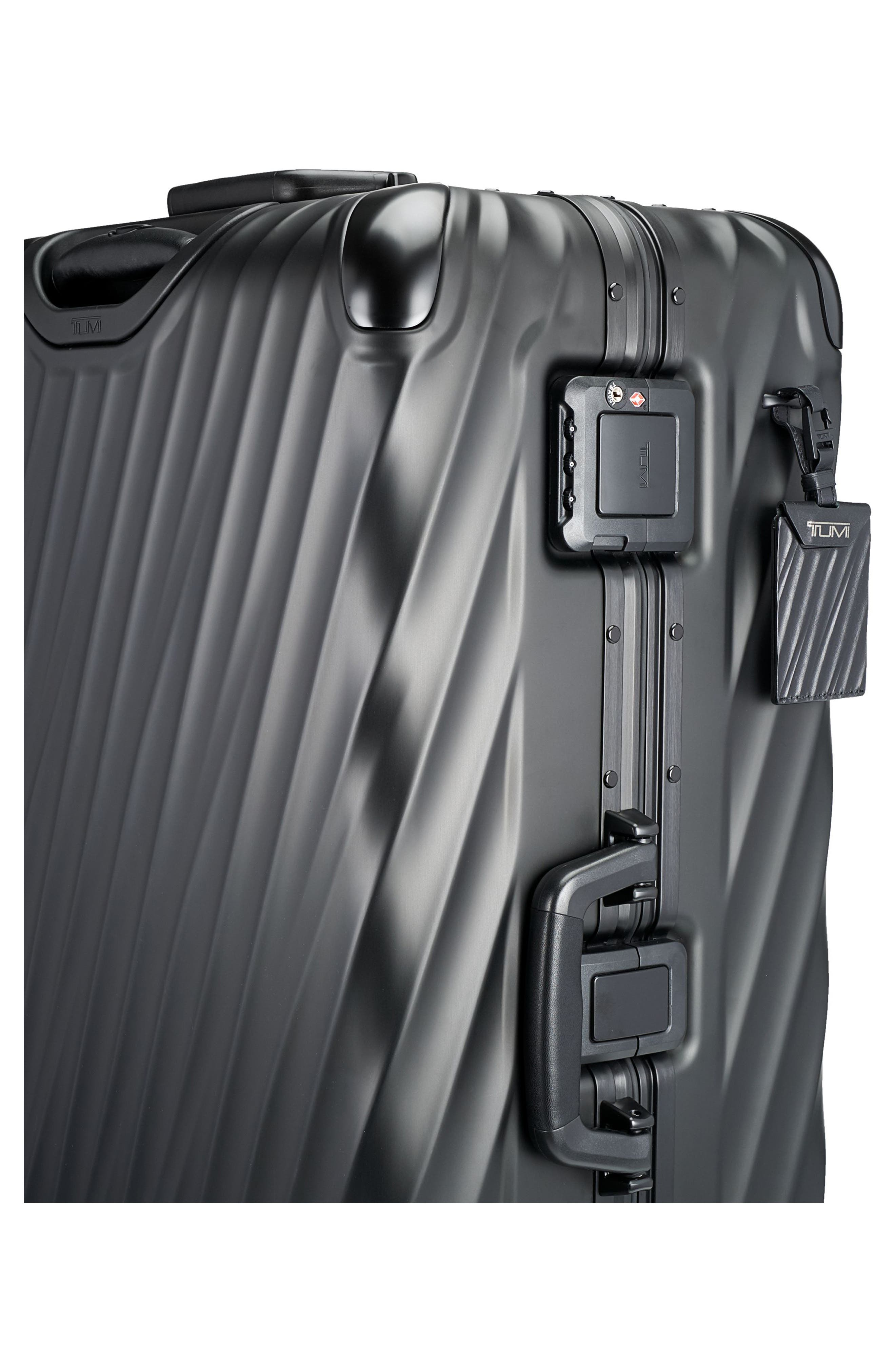 19 Degree 31-Inch Extended Trip Wheeled Aluminum Packing Case,                             Alternate thumbnail 3, color,                             MATTE BLACK