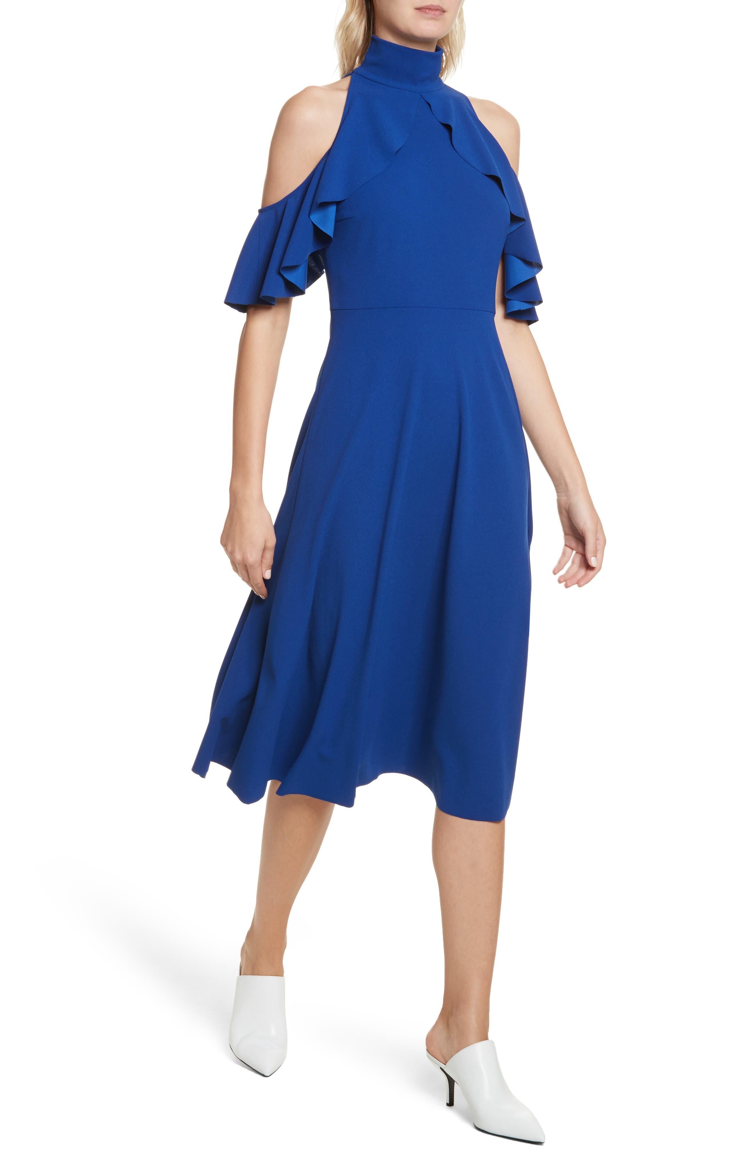 Midi Dress,                             Alternate thumbnail 4, color,                             415