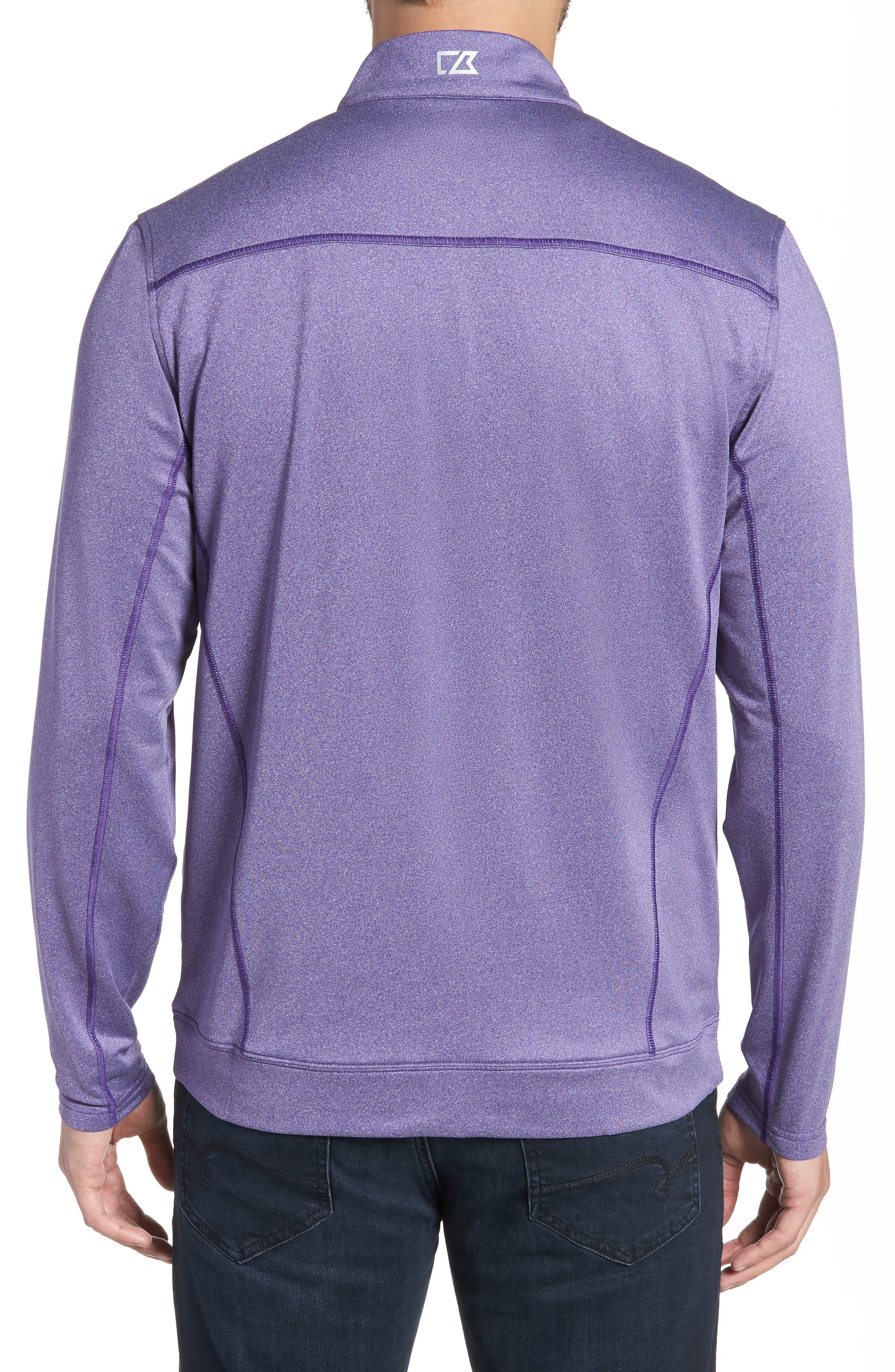 Endurance Minnesota Vikings Regular Fit Pullover,                             Alternate thumbnail 2, color,                             COLLEGE PURPLE HEATHER