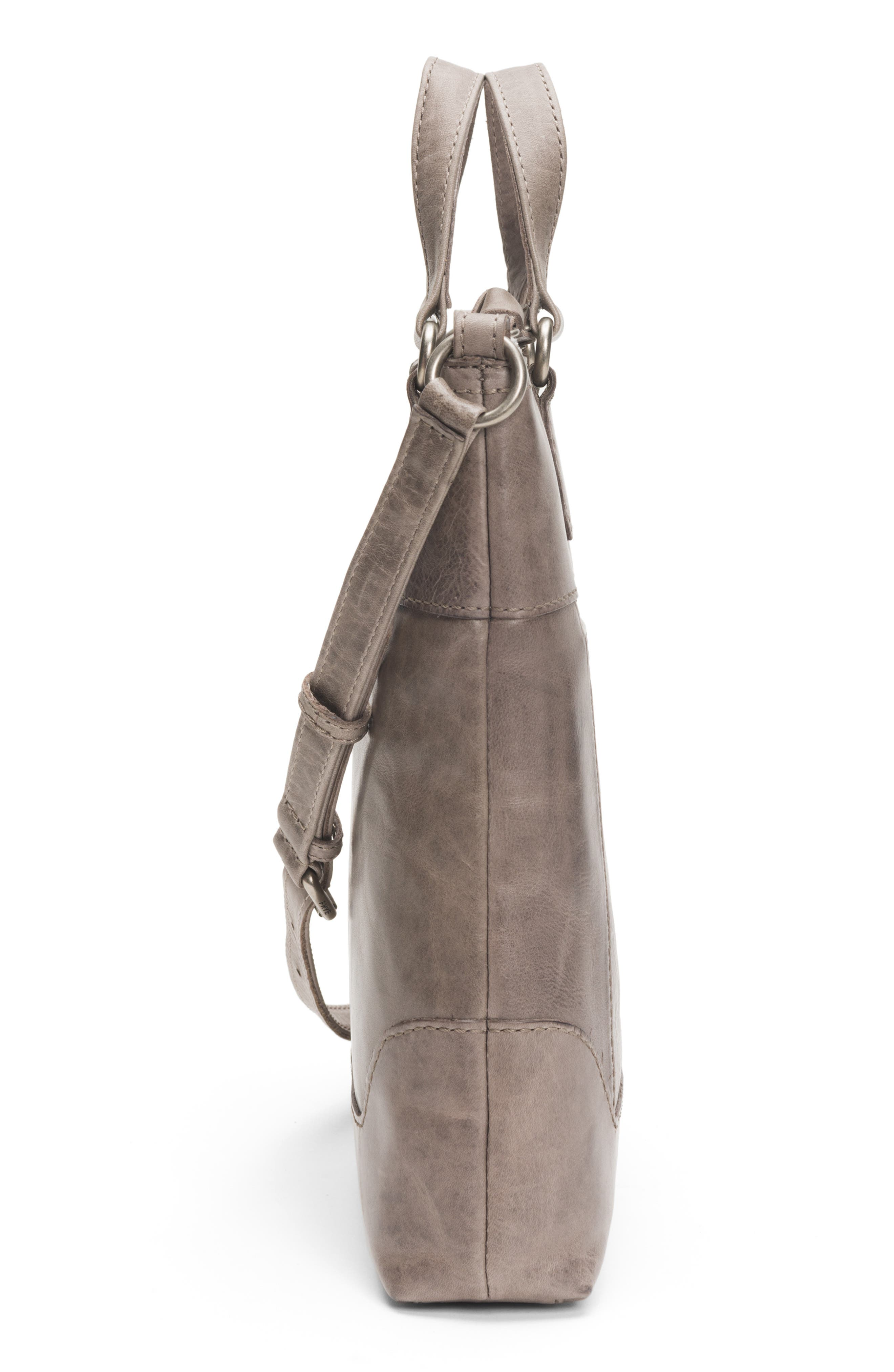 Melissa Small Leather Tote,                             Alternate thumbnail 5, color,                             ICE