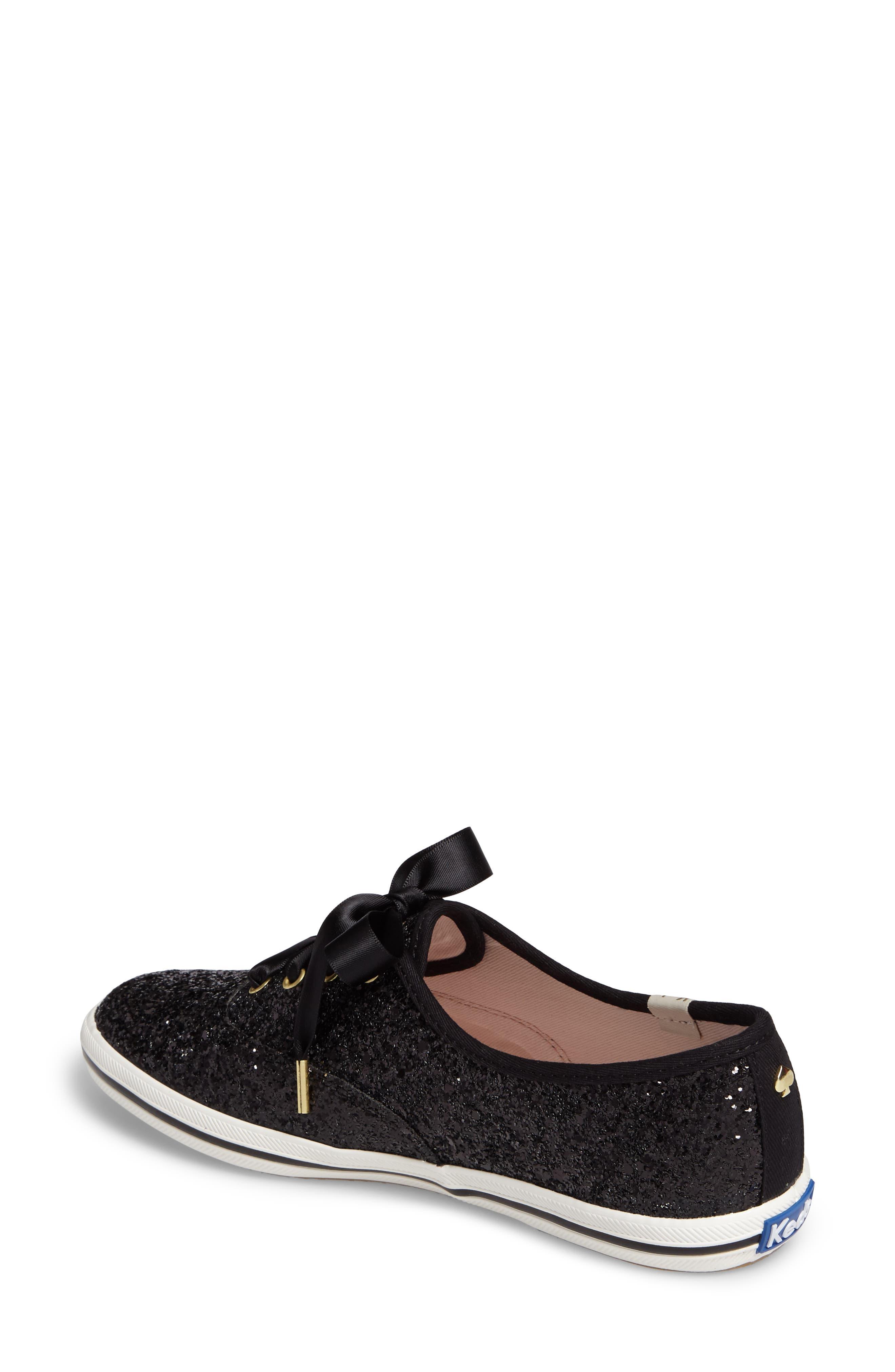 glitter sneaker,                             Alternate thumbnail 2, color,                             BLACK