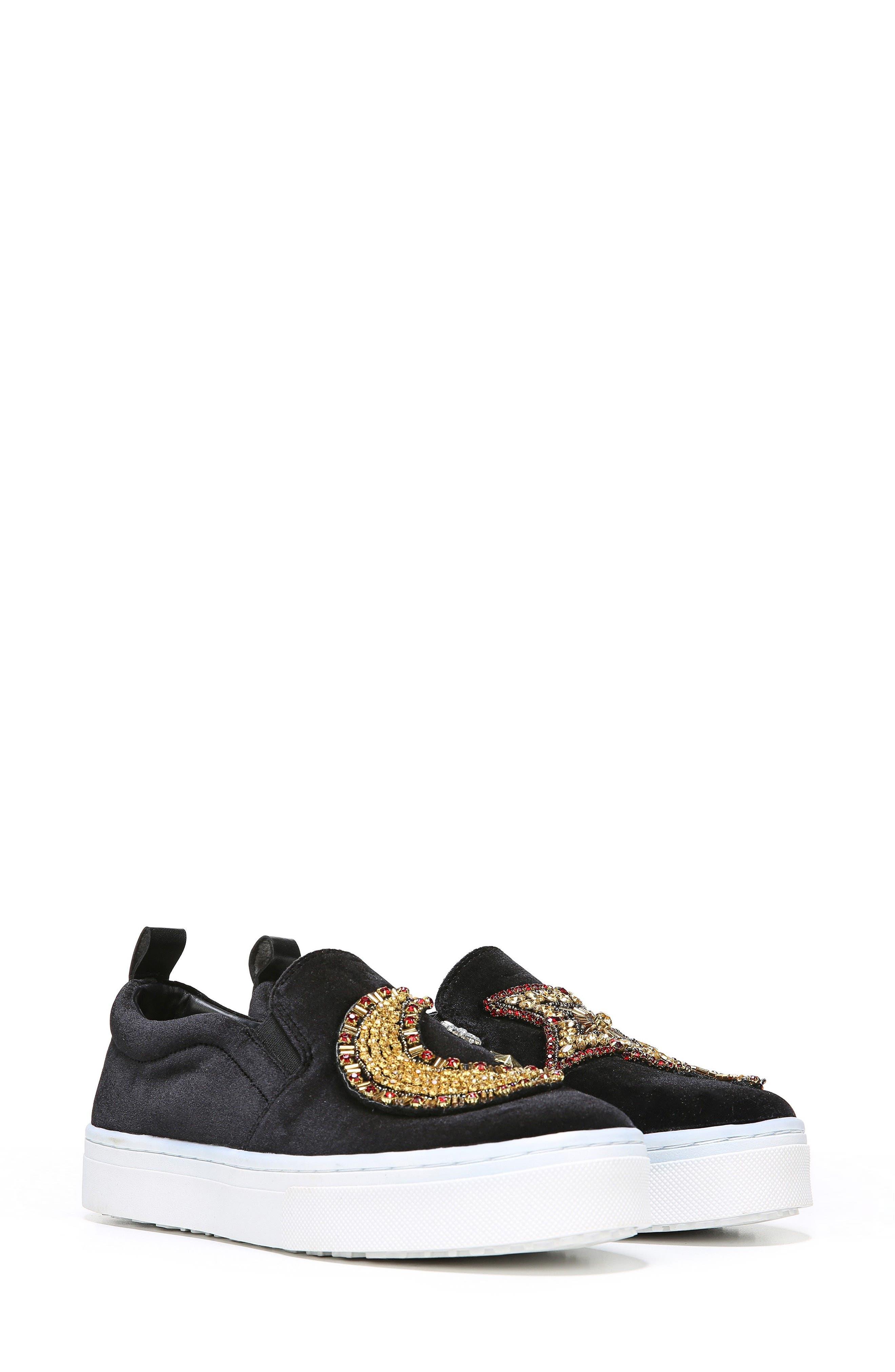 Leila Embellished Platform Sneaker,                             Alternate thumbnail 2, color,                             001