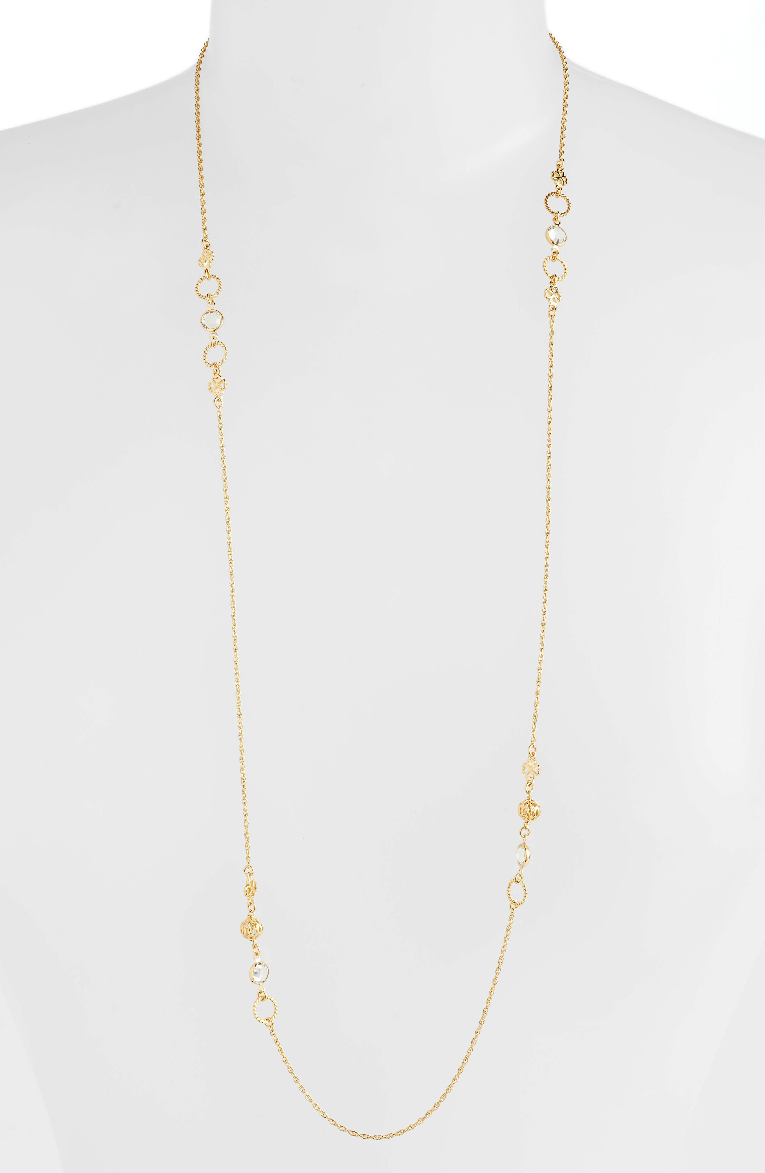 Tresse Long Lariat Necklace,                             Main thumbnail 1, color,                             YELLOW GOLD