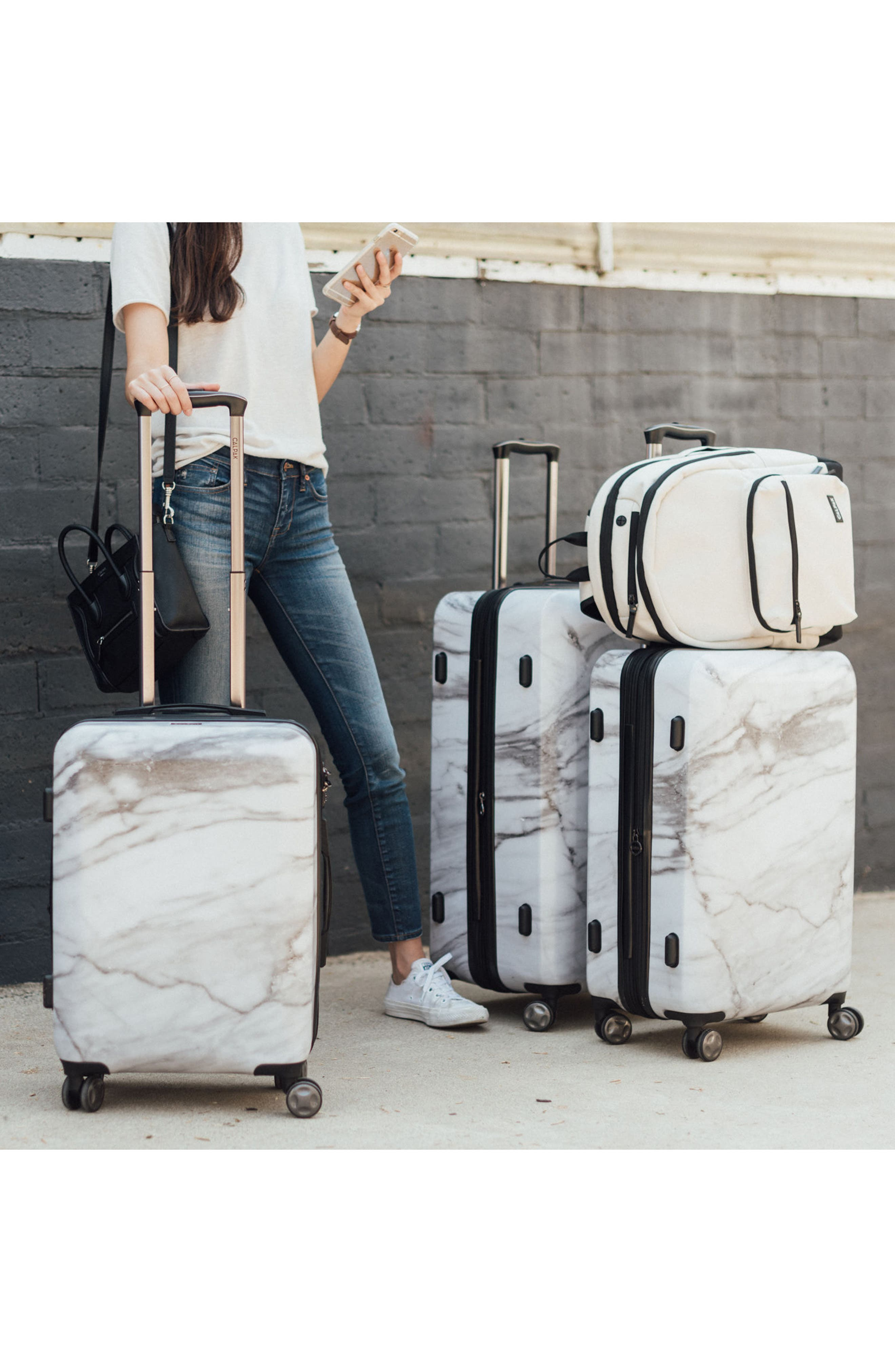 Astyll 22-Inch & 30-Inch Spinner Luggage Set,                             Alternate thumbnail 5, color,                             MILK MARBLE
