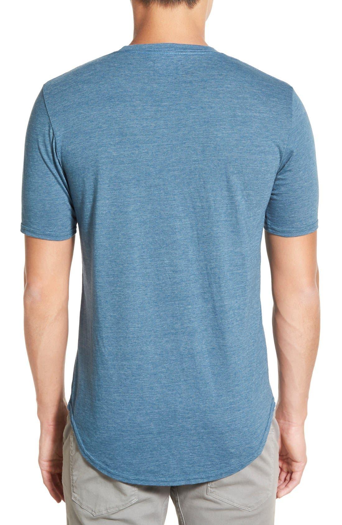 Scallop Triblend Crewneck T-Shirt,                             Alternate thumbnail 67, color,