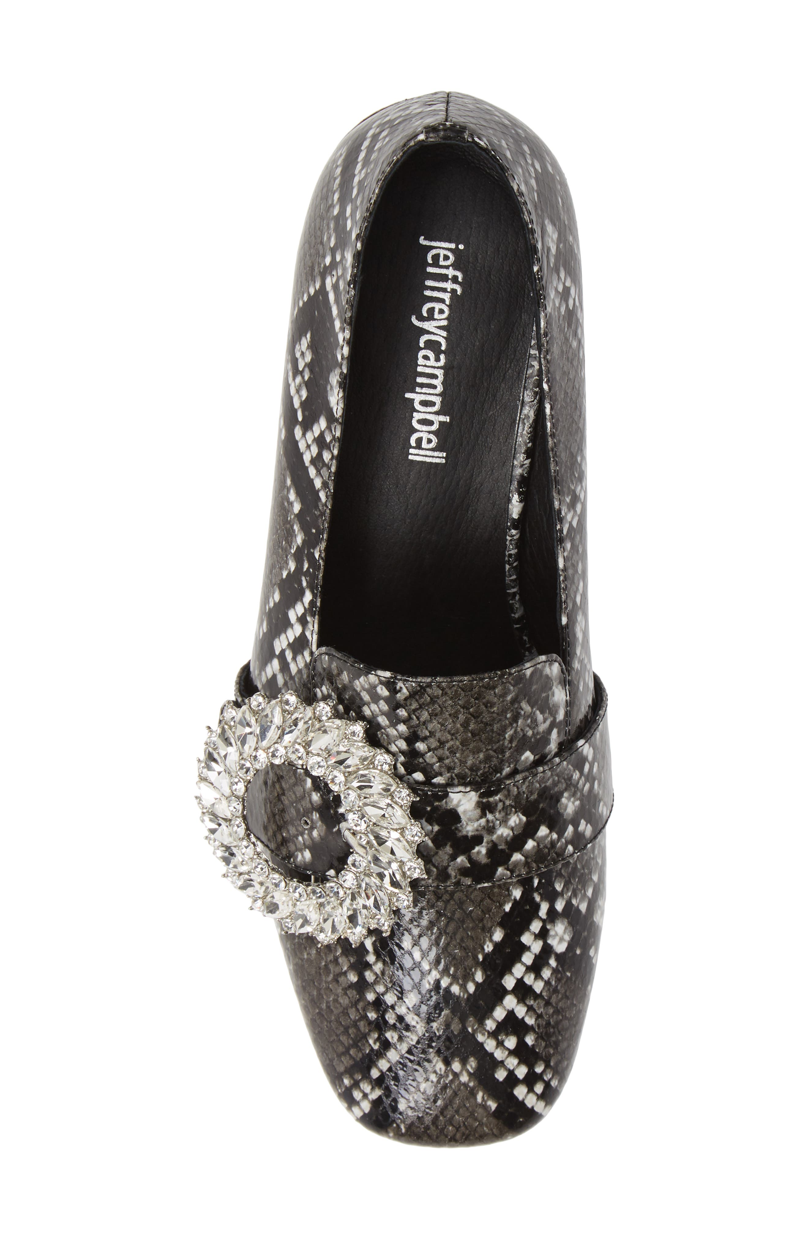 Louisa Pump,                             Alternate thumbnail 5, color,                             SNAKE PRINT LEATHER/ SILVER