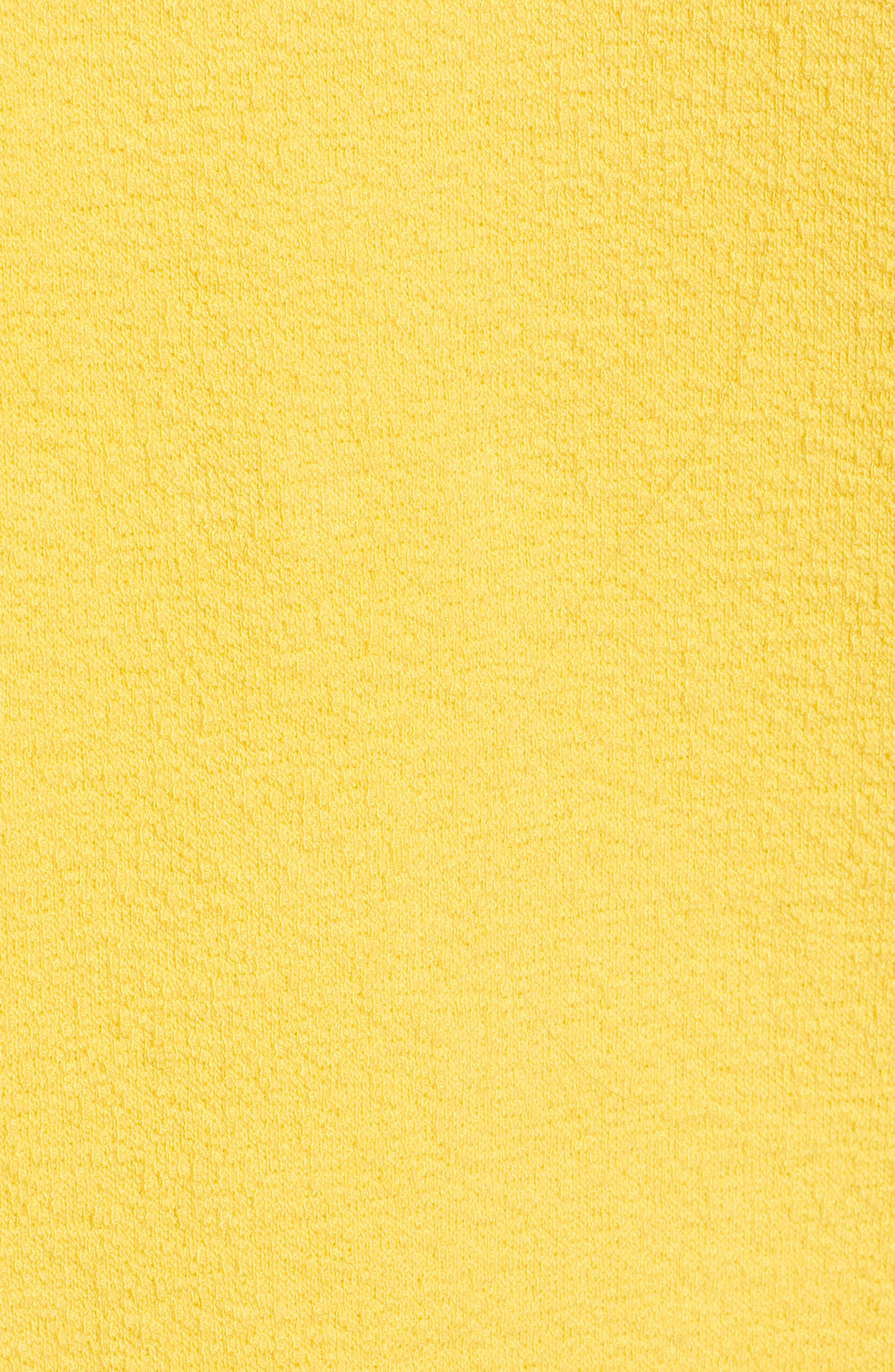 CASLON<SUP>®</SUP>,                             Side Slit Relaxed Sweatshirt,                             Alternate thumbnail 5, color,                             YELLOW WHIP
