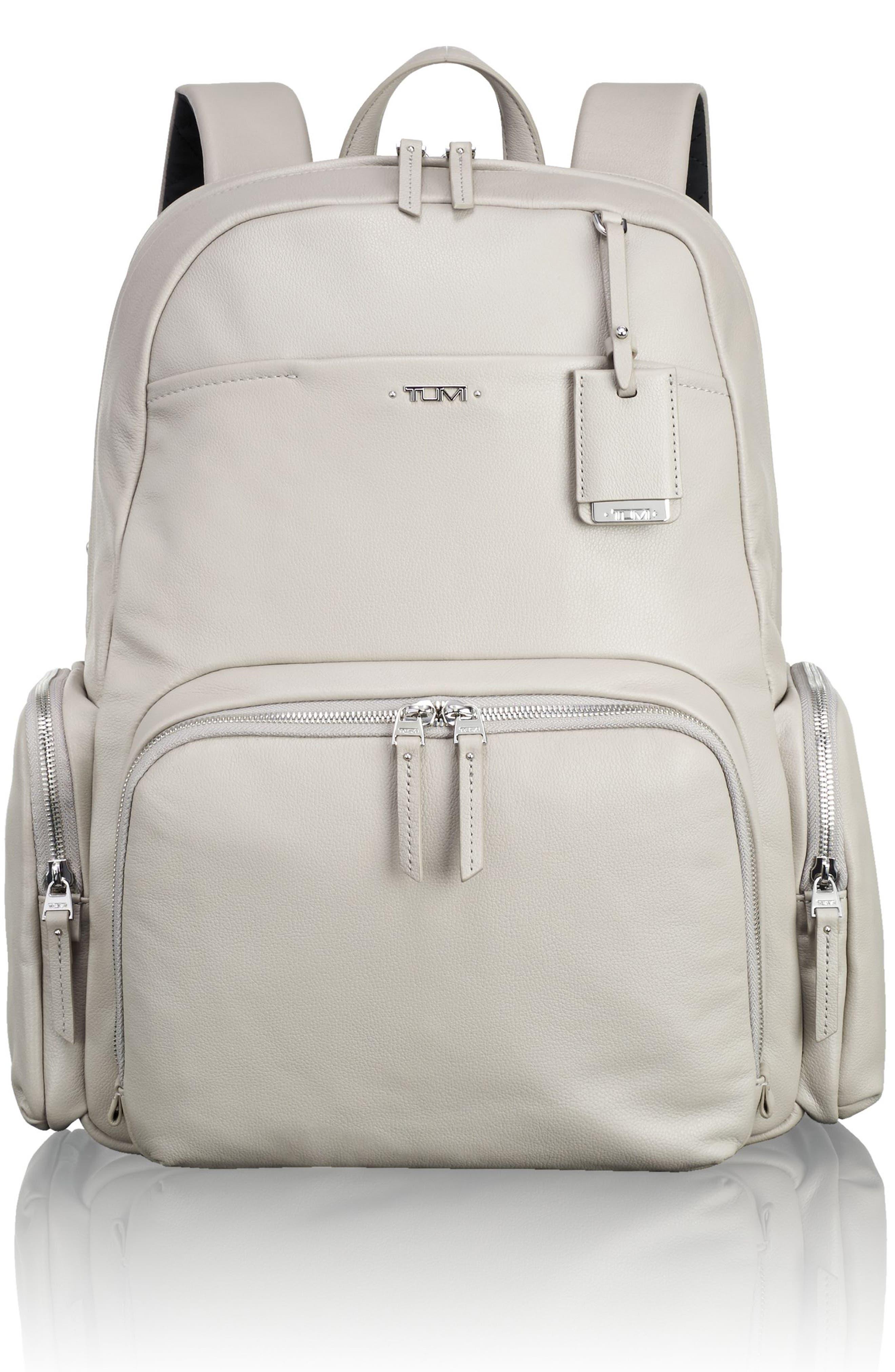 Calais Leather Computer Backpack,                             Main thumbnail 2, color,