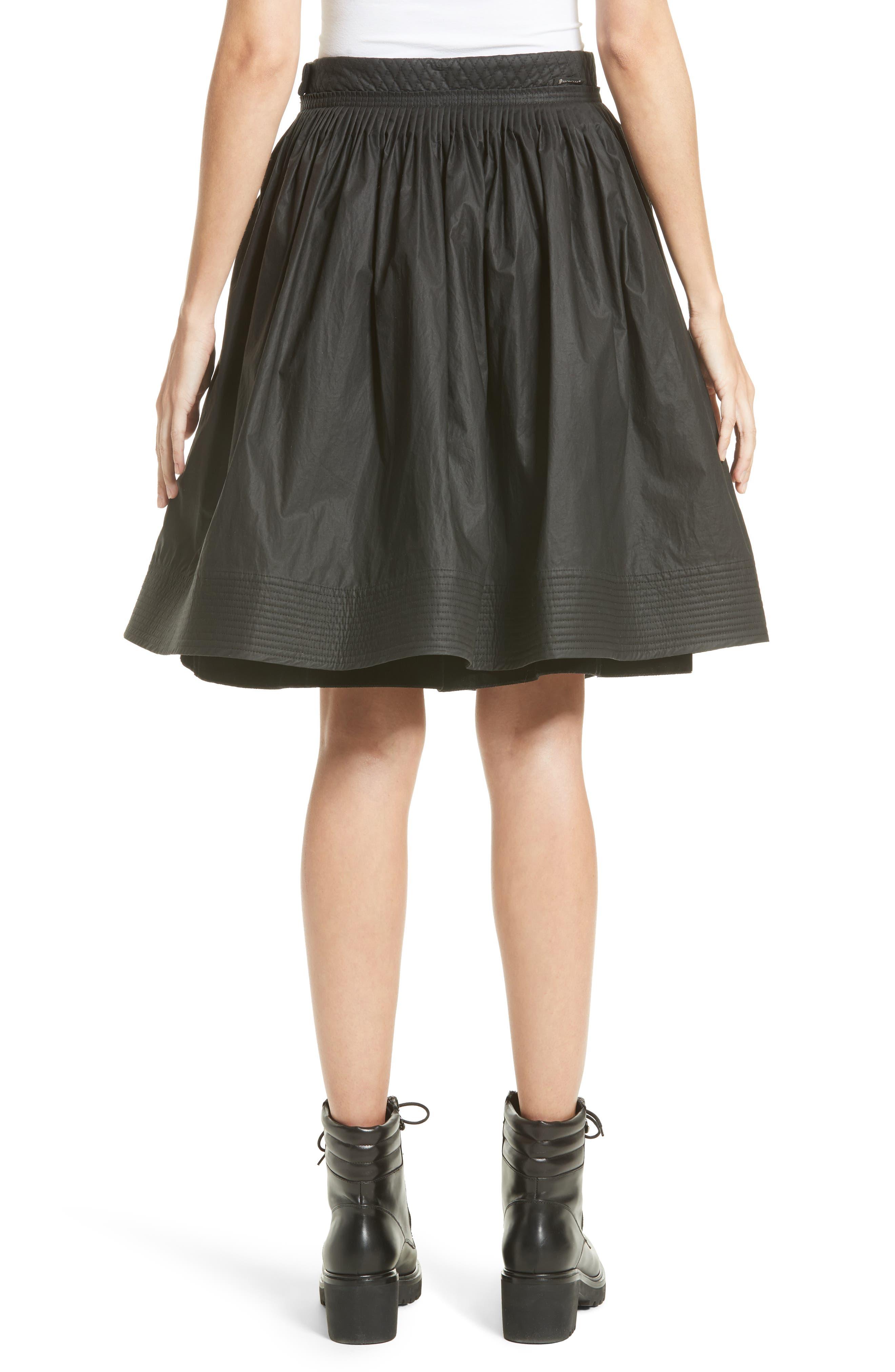 Gonna Cotton A-Line Skirt,                             Alternate thumbnail 2, color,