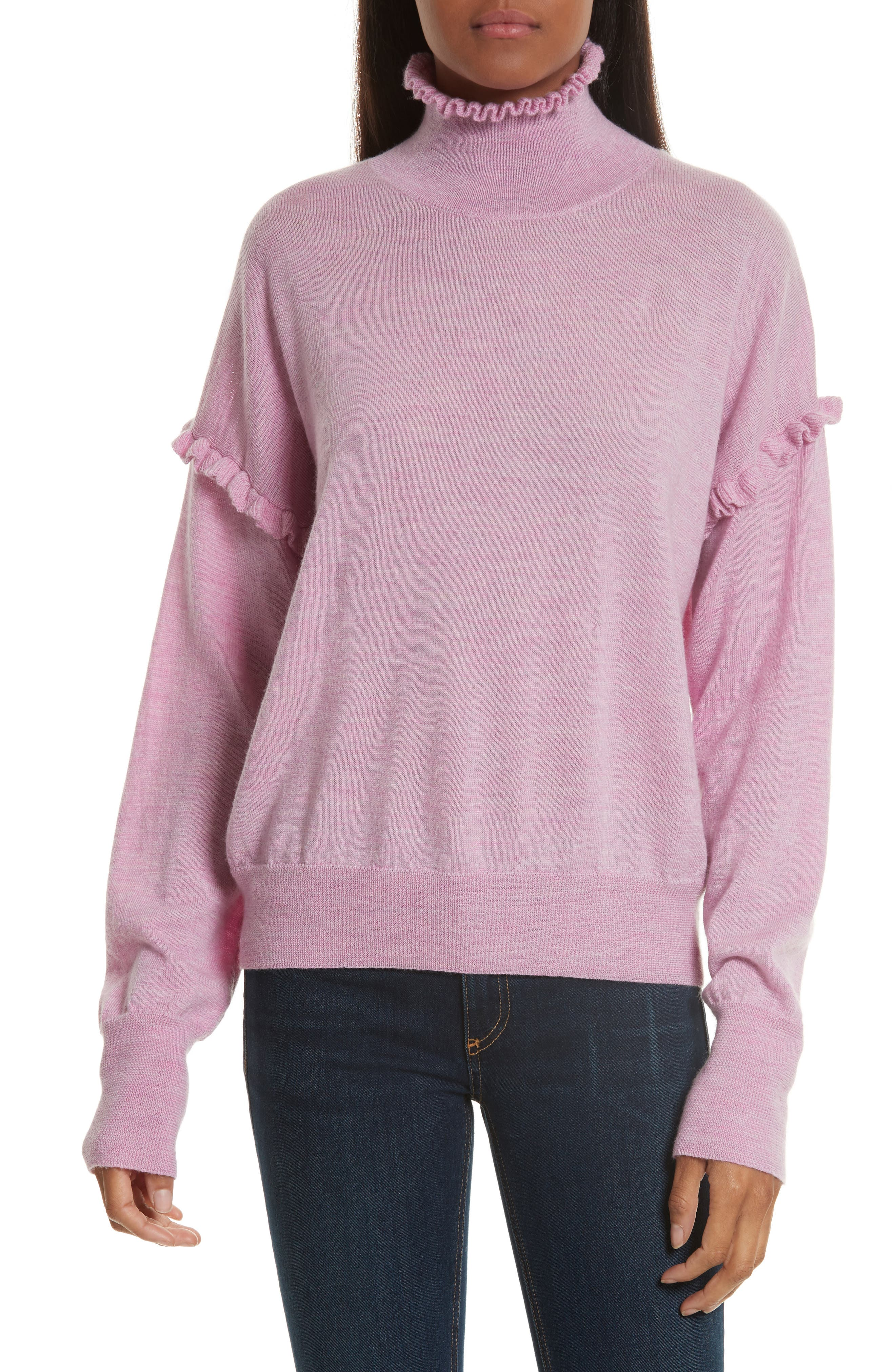 Turtleneck Merino Wool Sweater,                             Main thumbnail 1, color,