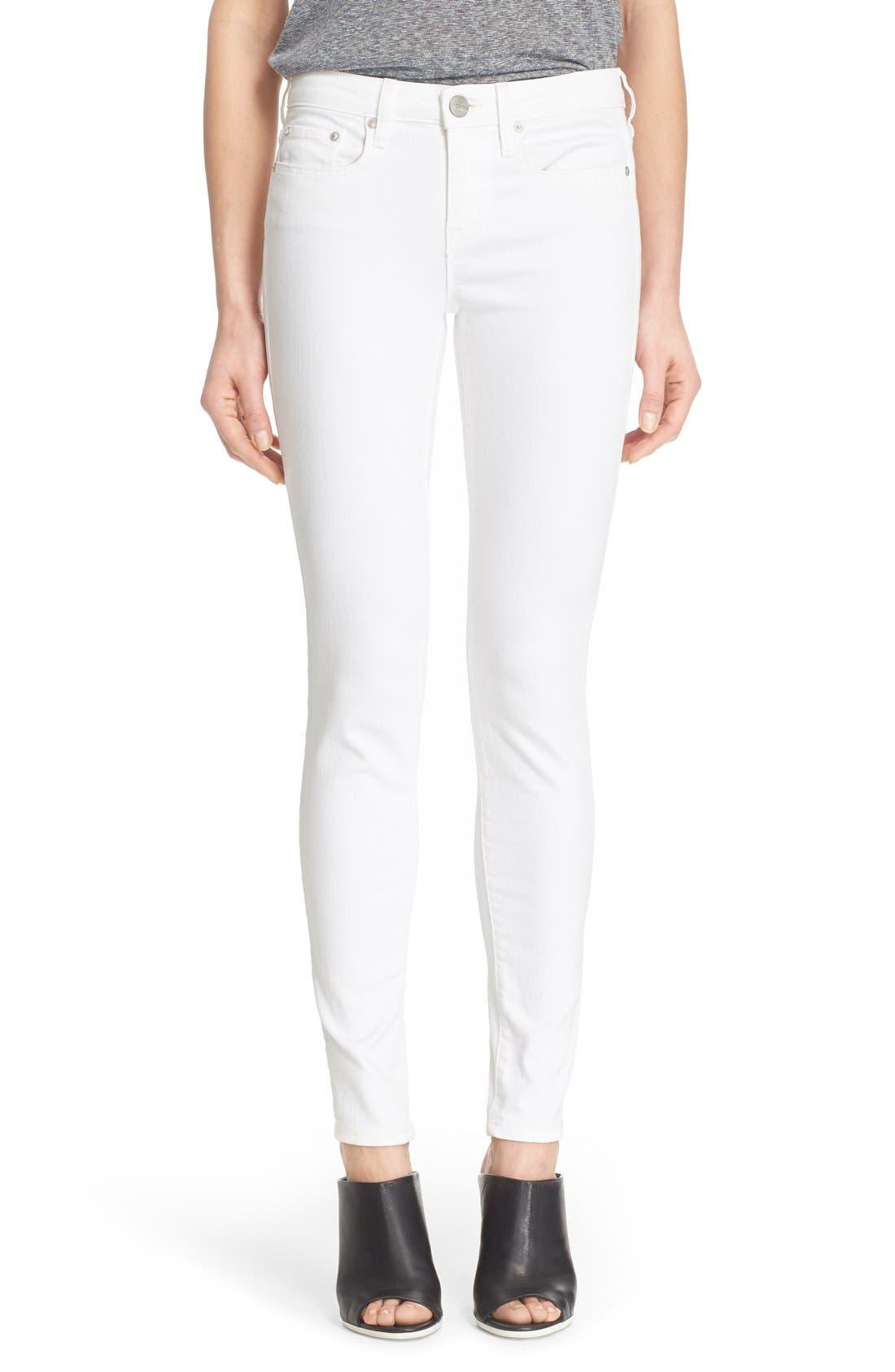 'Riley' Skinny Jeans, Main, color, 100