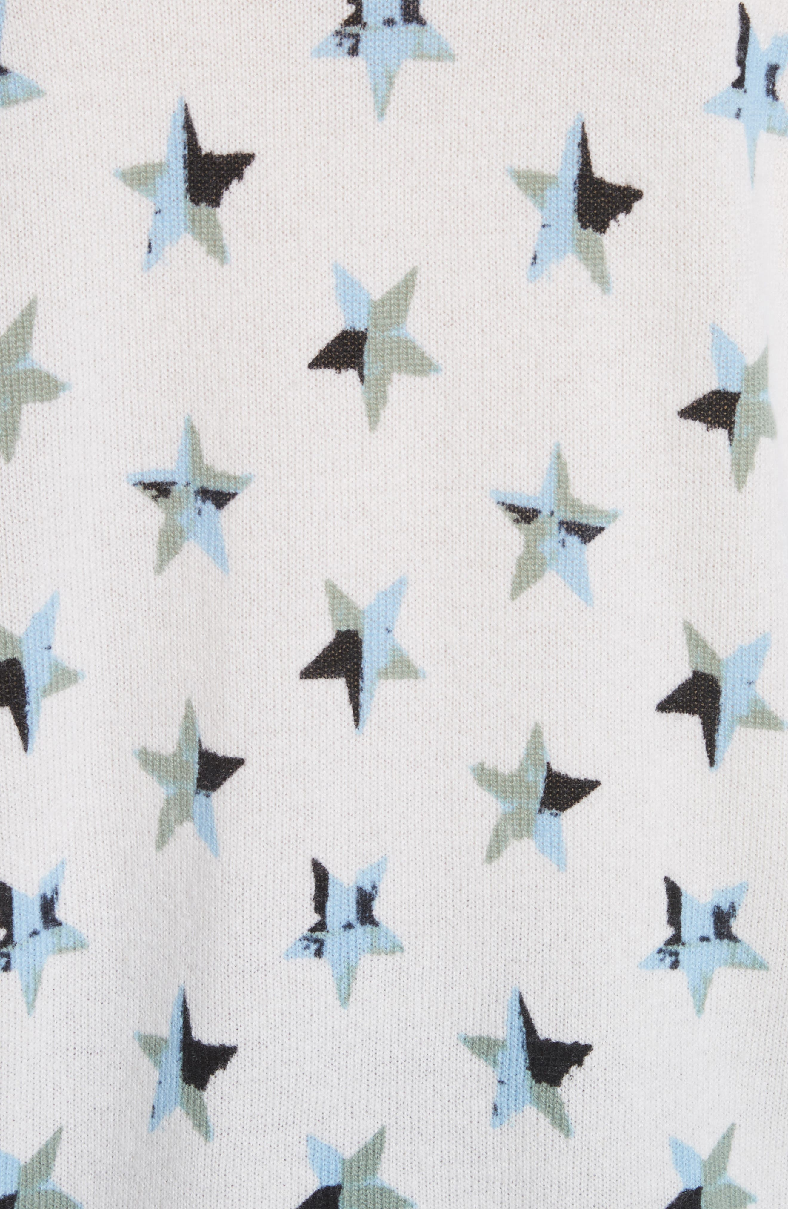 Bryce Star Print Cashmere Sweater,                             Alternate thumbnail 5, color,                             188