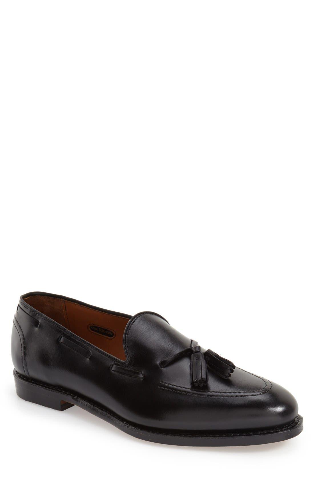 'Acheson' Tassel Loafer,                         Main,                         color, BLACK